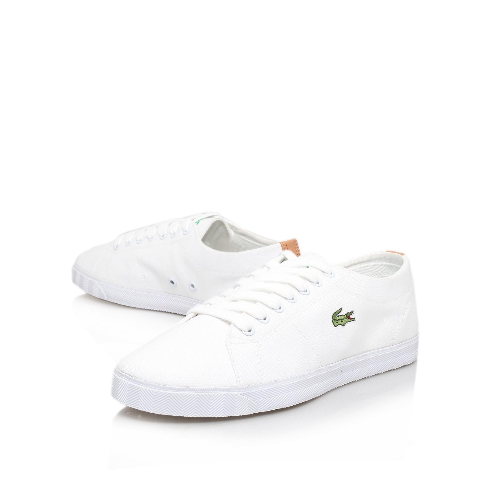 022b00f54ce51 Lacoste Marcel Eos Plimsol in White for Men - Lyst