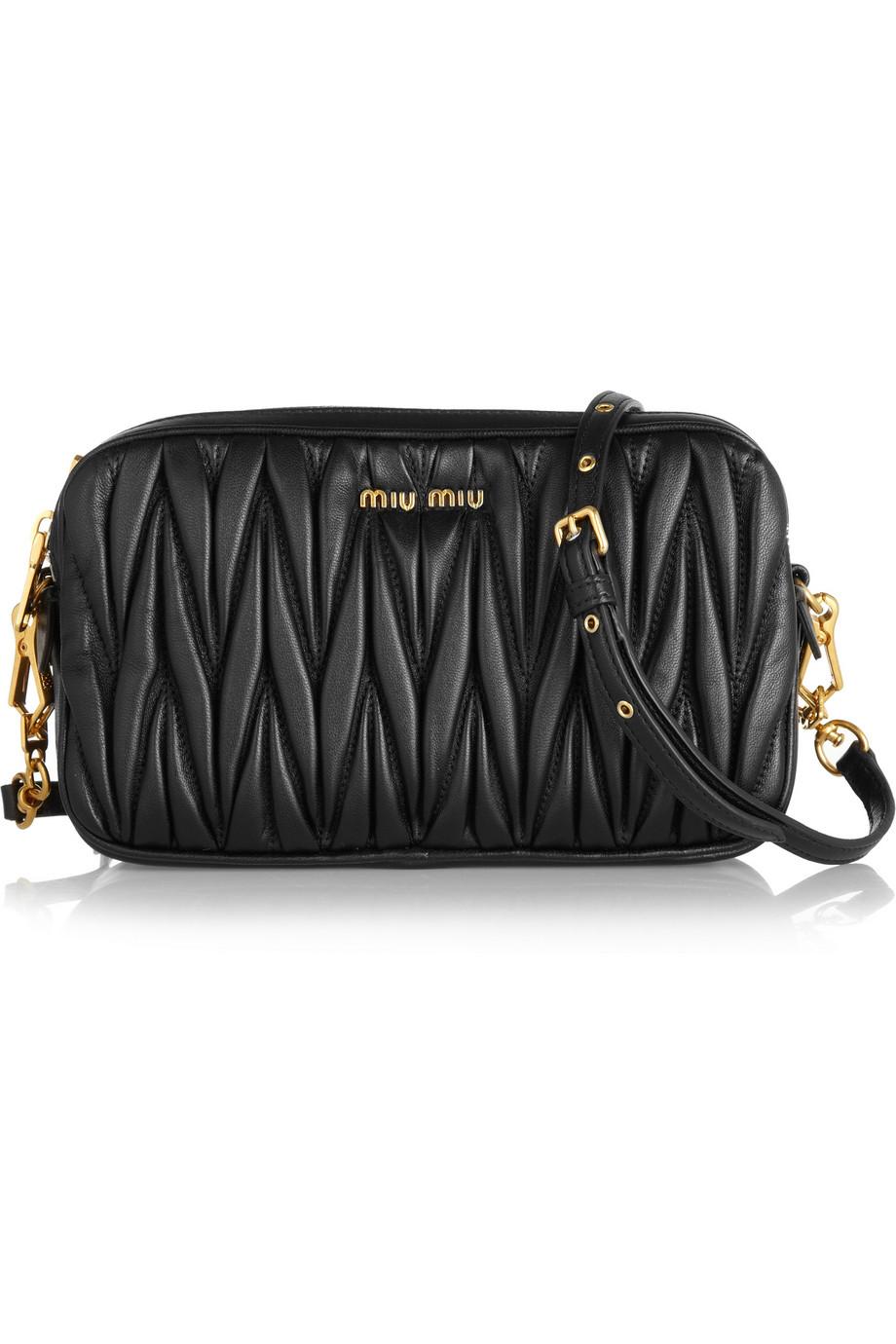 Lyst Miu Miu Matelass 233 Leather Shoulder Bag In Black