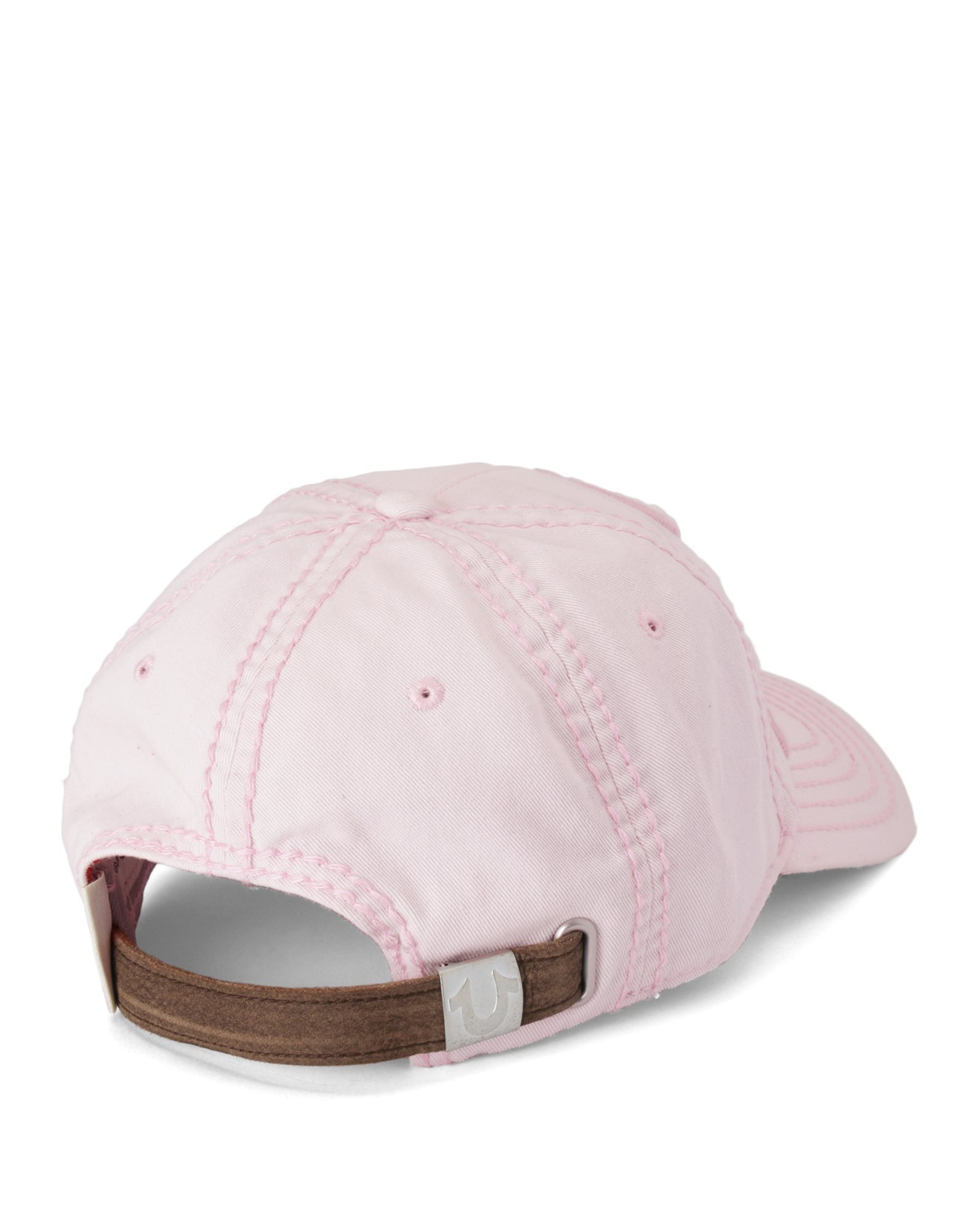 true religion tonal 3d logo womens baseball cap in pink
