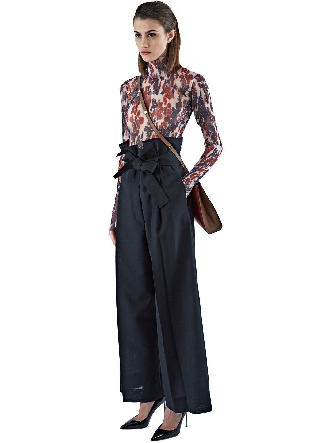 Marni Women's High-waisted Wide Leg Pants In Black in Black | Lyst