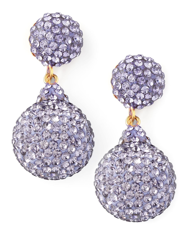 Jose Amp Maria Barrera Pave Crystal Doubledrop Earrings