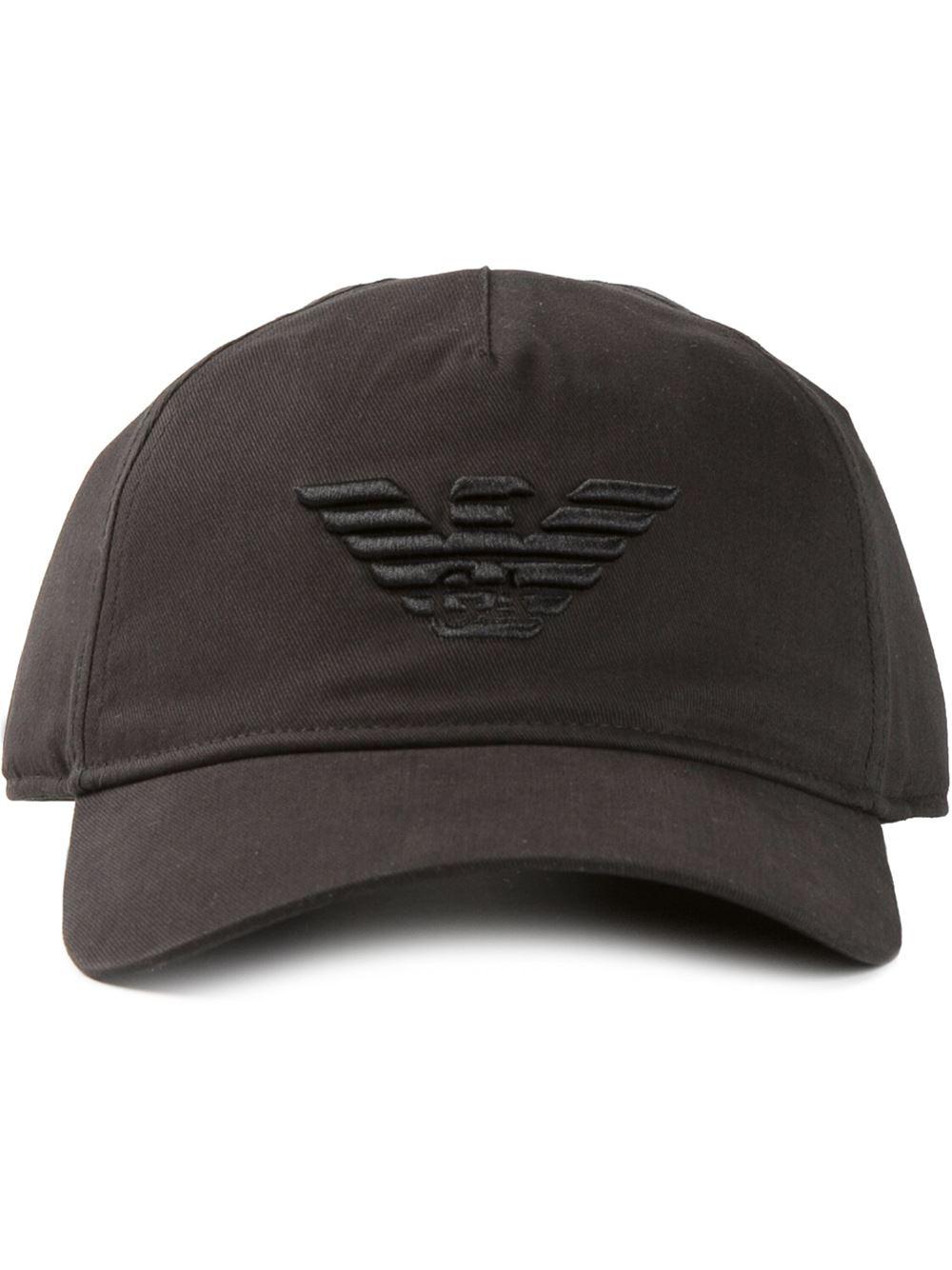 530b9bd37c7 Lyst - Emporio Armani Logo Embroidered Baseball Cap in Black for Men
