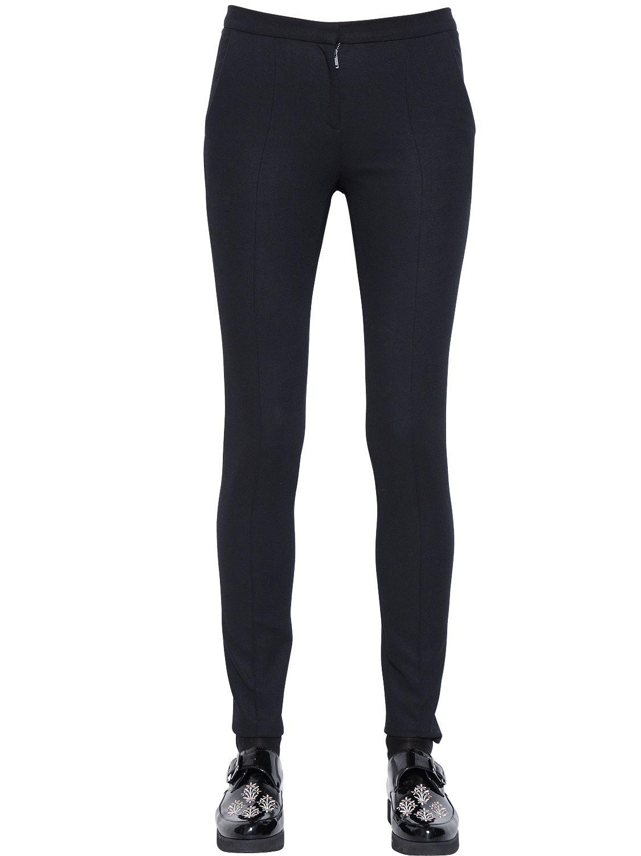 Designers remix Vence Cotton Blend Crepe Pants in Black | Lyst
