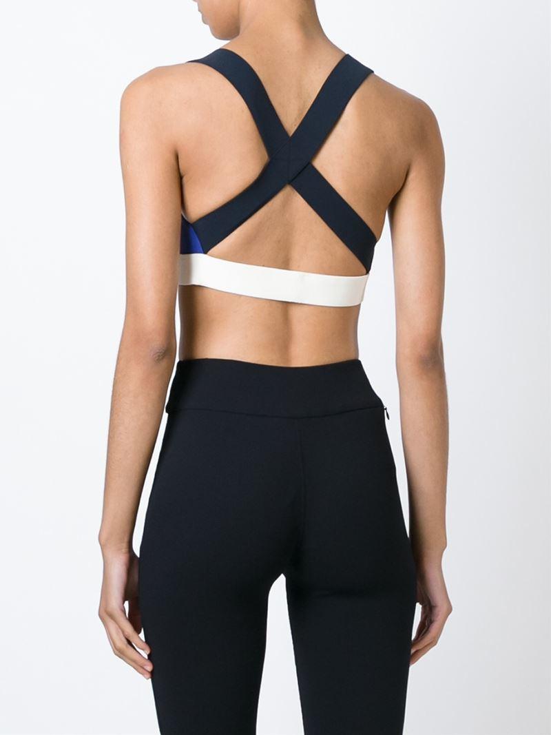 crossed back sports bra - Black No Ka'Oi Best Buy 1UoMn