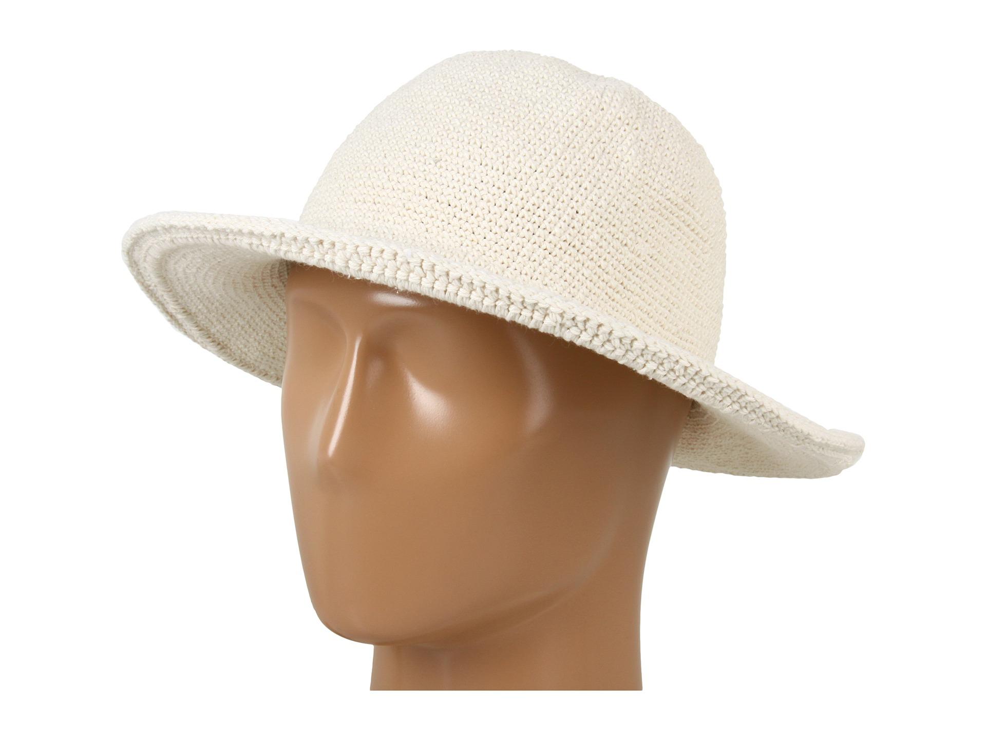 d6d008738bc Lyst - San Diego Hat Company Chm5 Cotton Crochet Medium Brim Sun Hat ...
