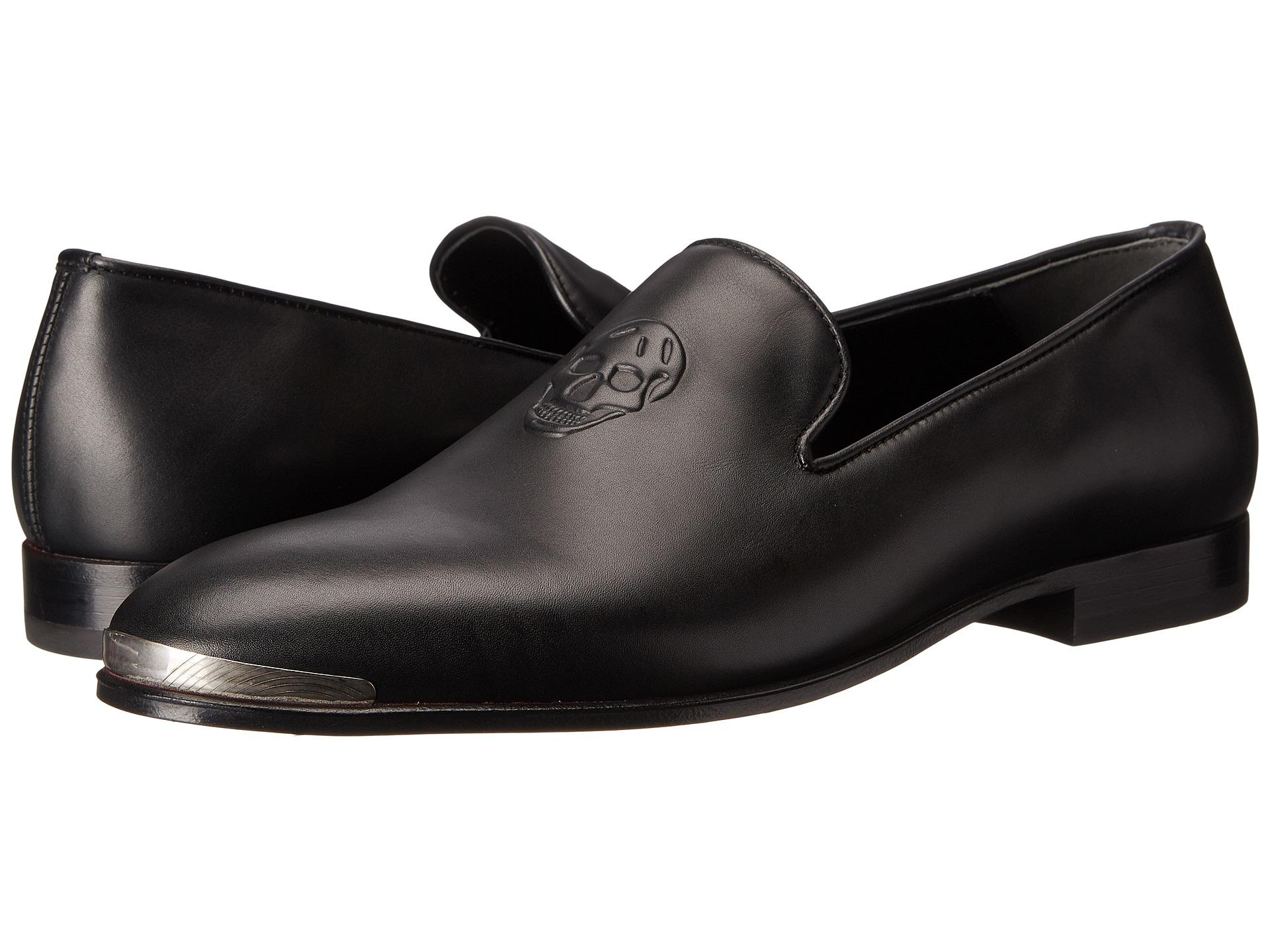 e1fefa8ea88b2 Alexander McQueen Embossed Skull Loafer W/ Metal Cap in Black for ...