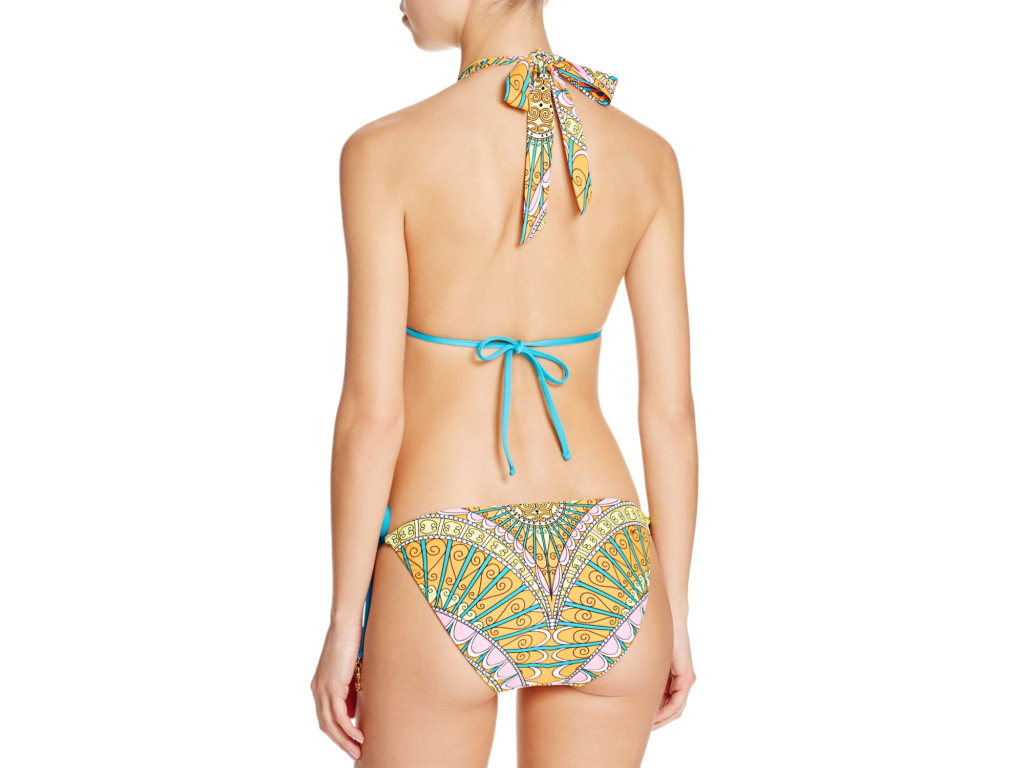 Trina Turk Womens Orange Capri Tall Triangle Bikini Top