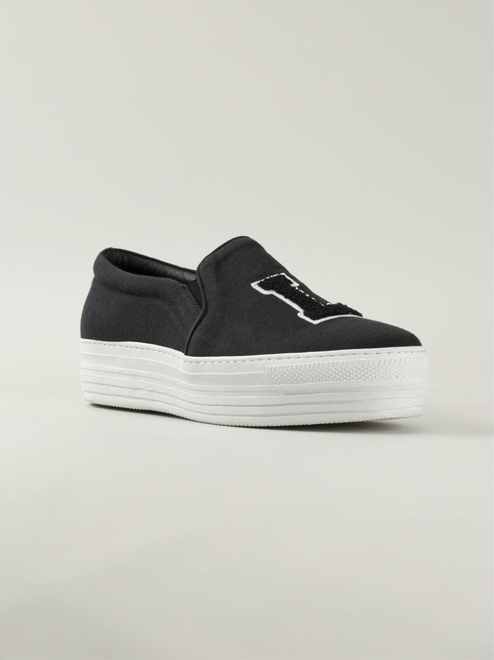 Joshua Sanders 'La' Platform Sneakers in Black