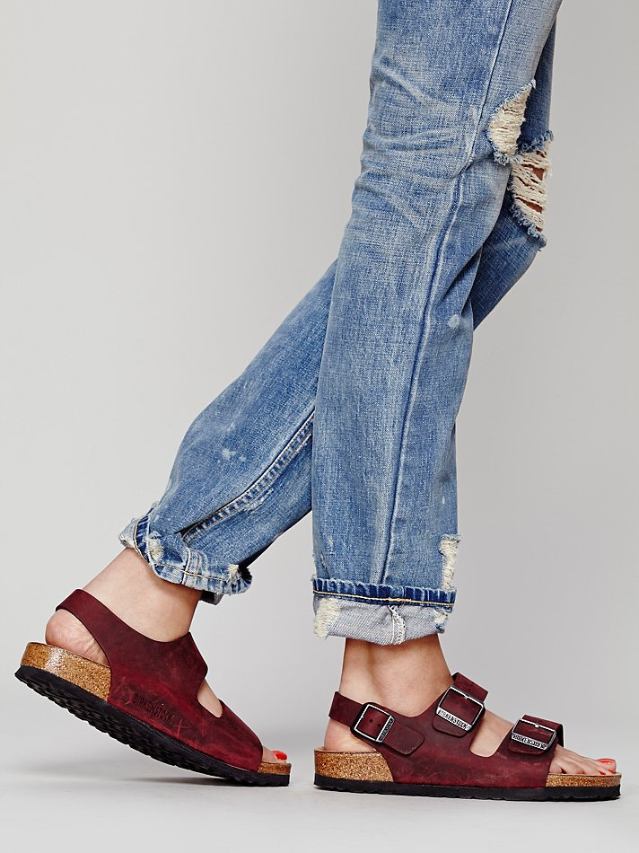 Free People Milano Leather Sandals In Brown Berry Lyst