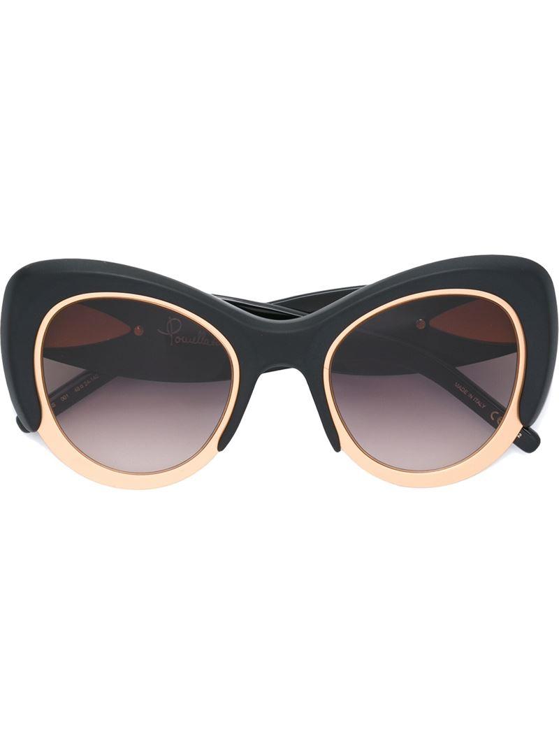 Pomellato Oversized Cat Eye Frame Sunglasses in Gold ...