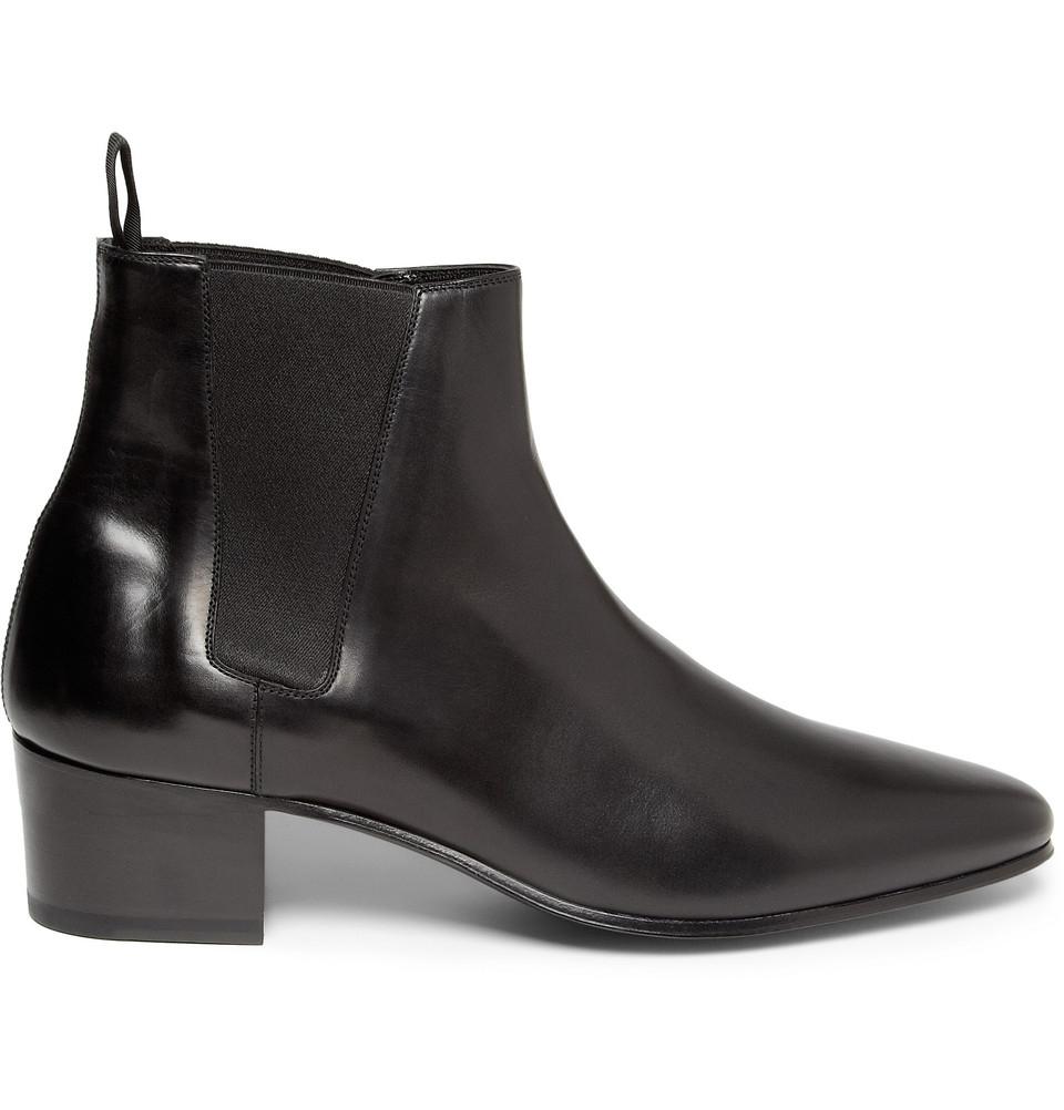 Saint laurent Leather Chelsea Boots in Black for Men