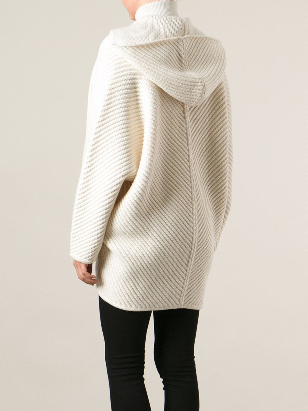 Barbara bui Oversized Hooded Cardigan in White | Lyst