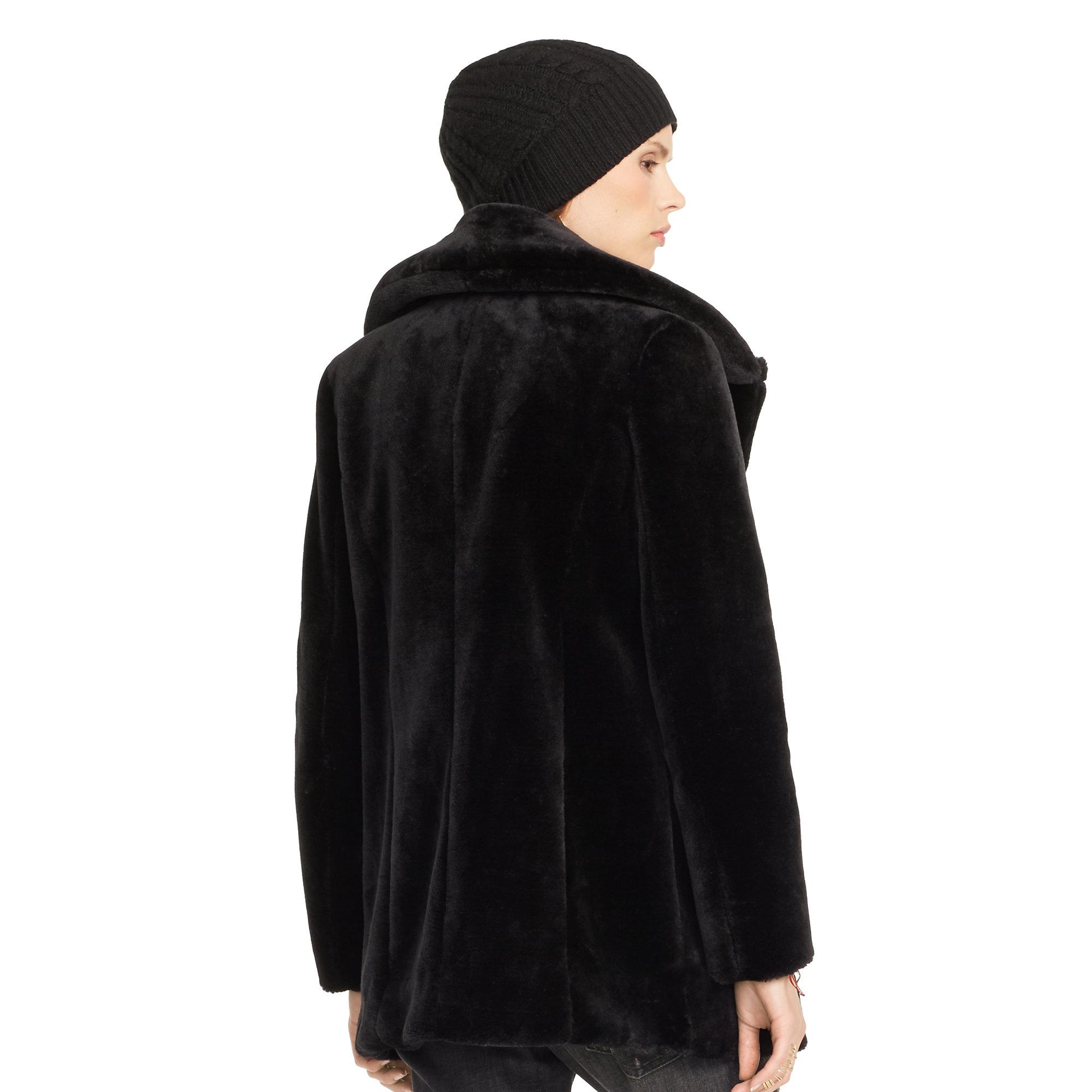 Lyst - Denim & Supply Ralph Lauren Faux-fur Coat in Black
