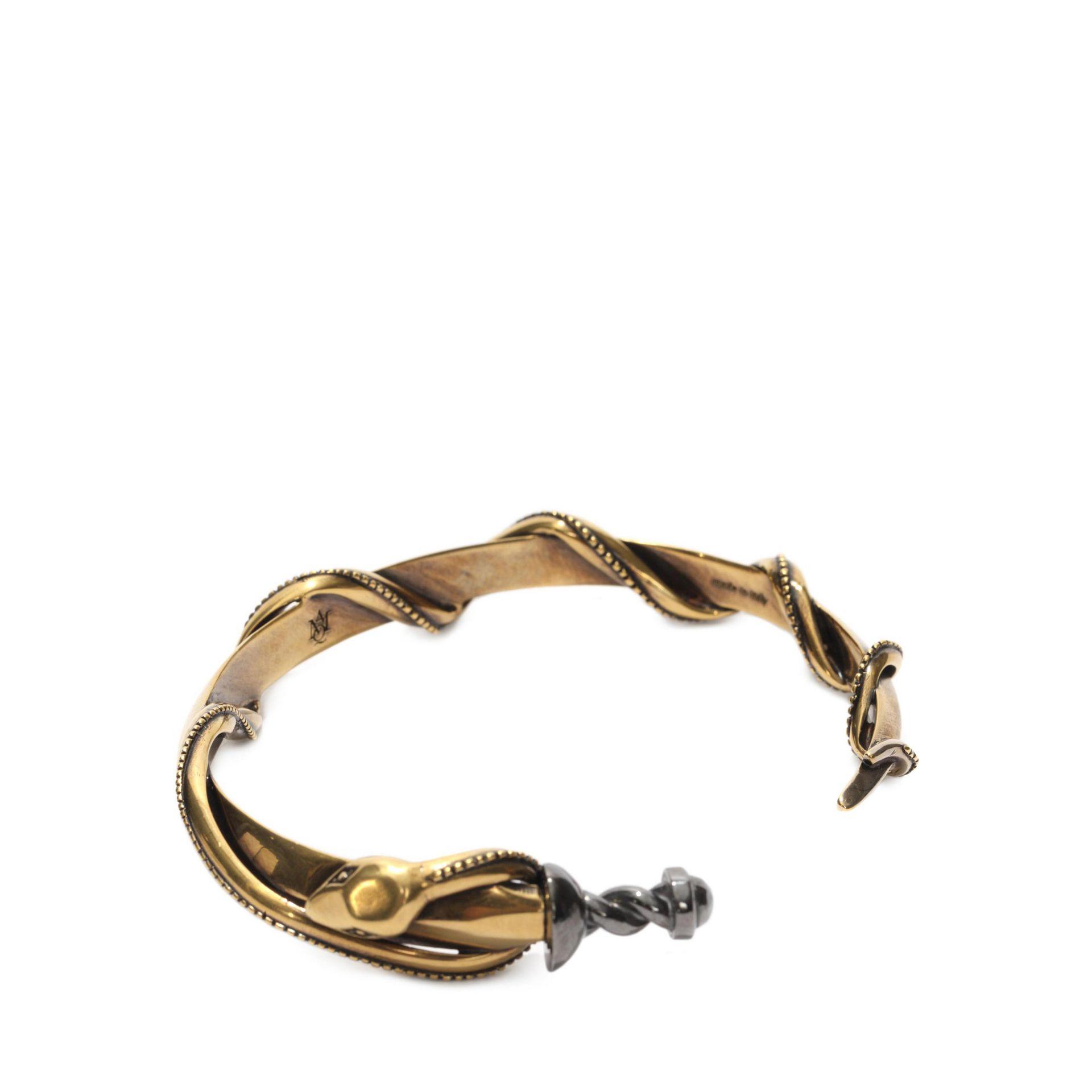 Alexander McQueen snake cuff - Metallic KdQYtbcj