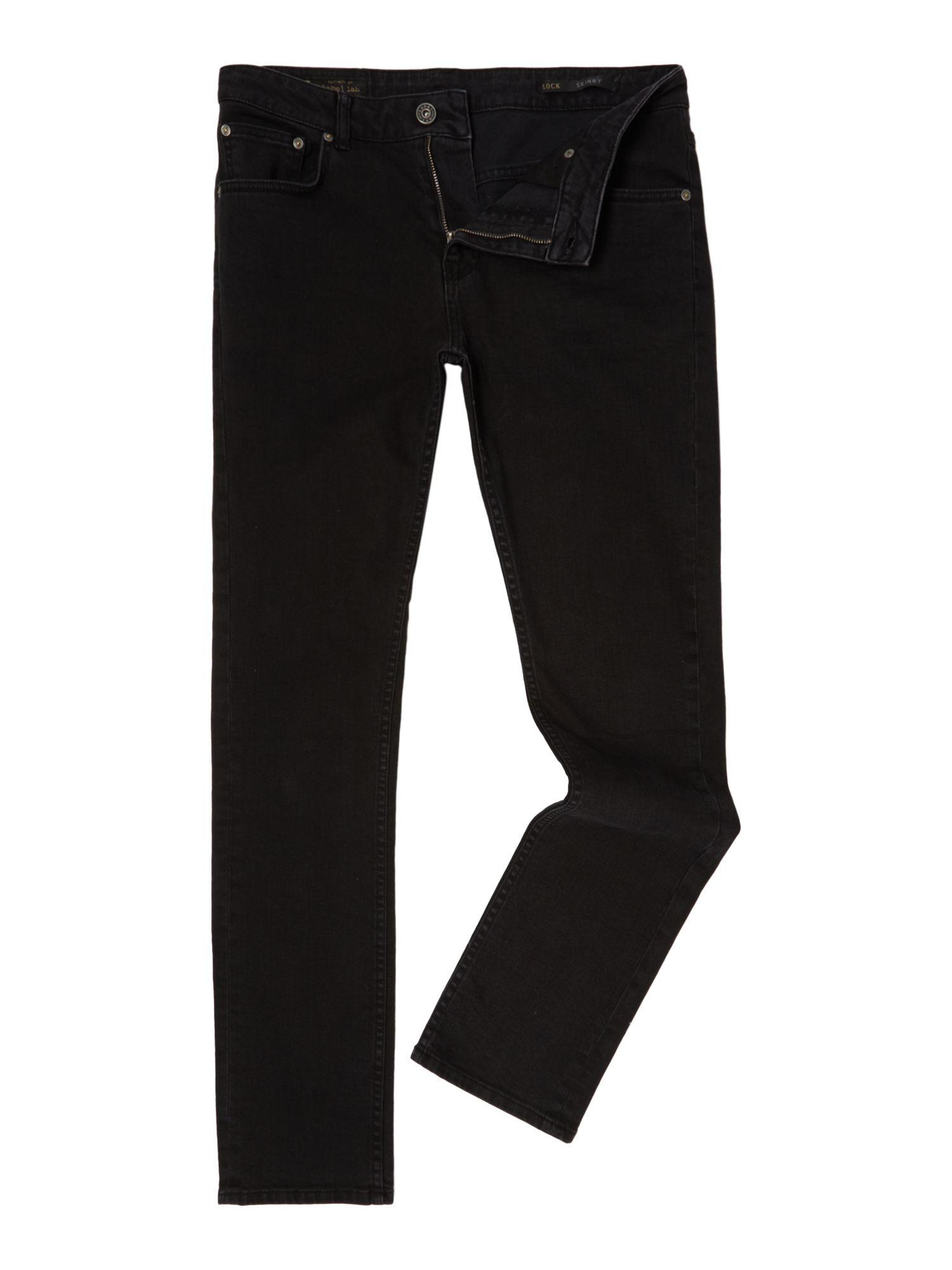 Label Lab Denim Lock Black Skinny Jean for Men
