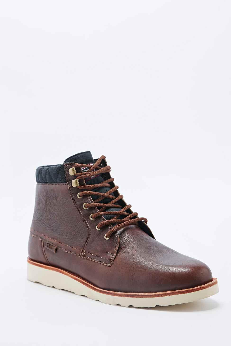 0efb94f461adb8 Vans Breton Leather Boots In Brown in Brown for Men - Lyst