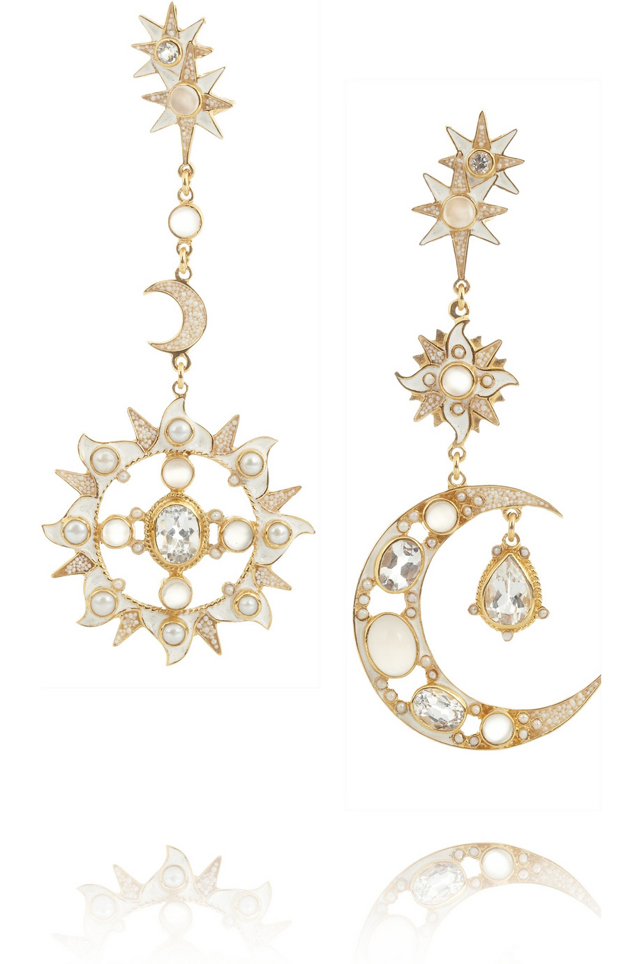 Percossi Papi Diego Sun And Moon Goldplated Multistone