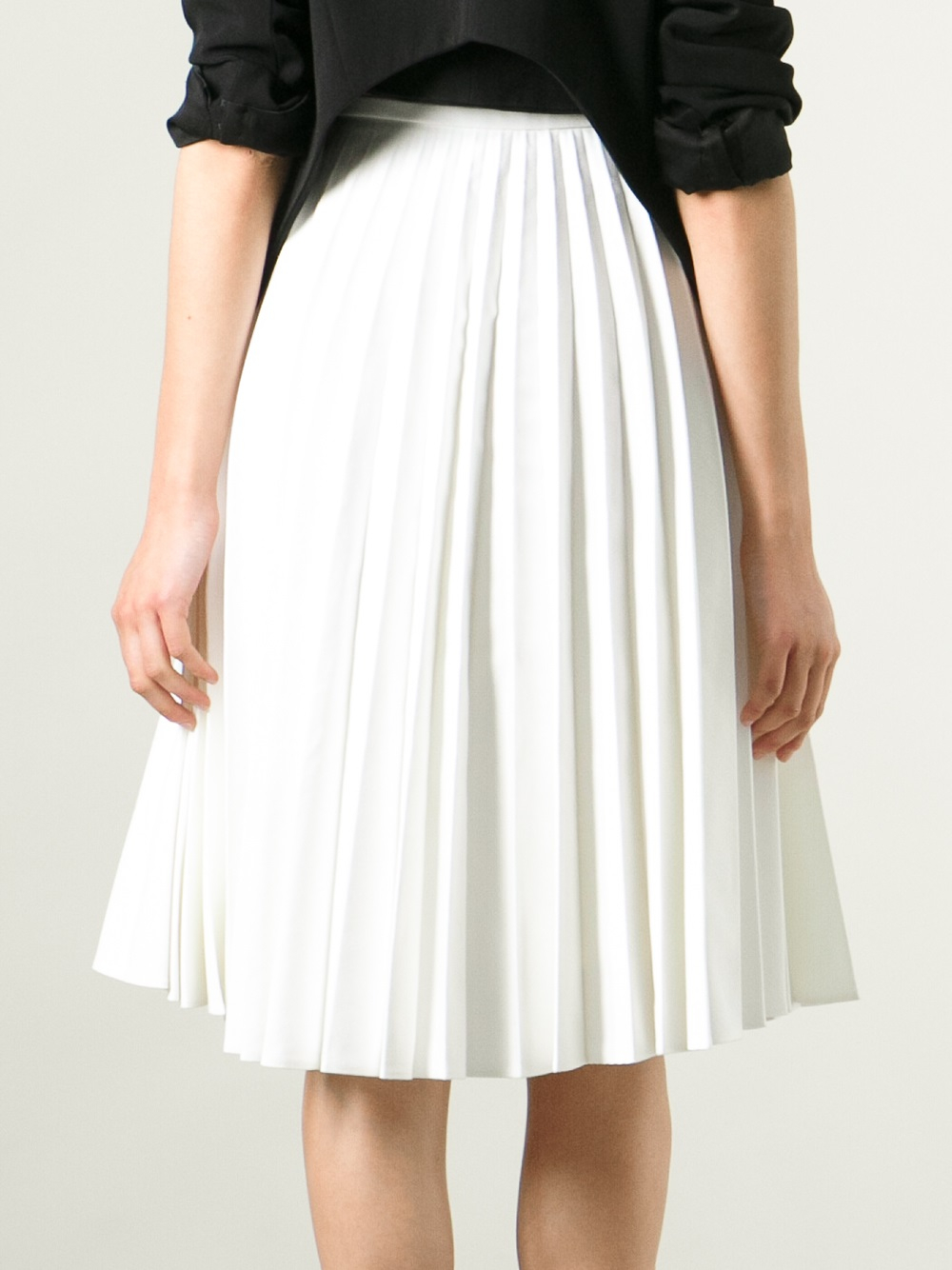 Lyst J W Anderson Pleated Skirt In White