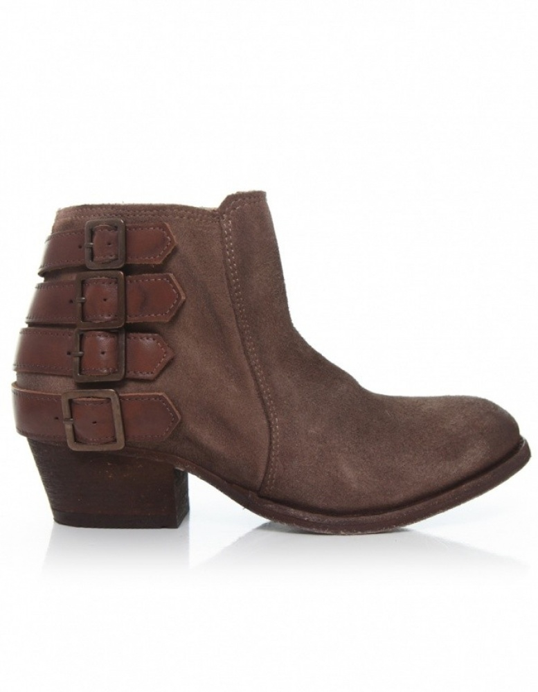h by hudson suede encke boots in brown lyst