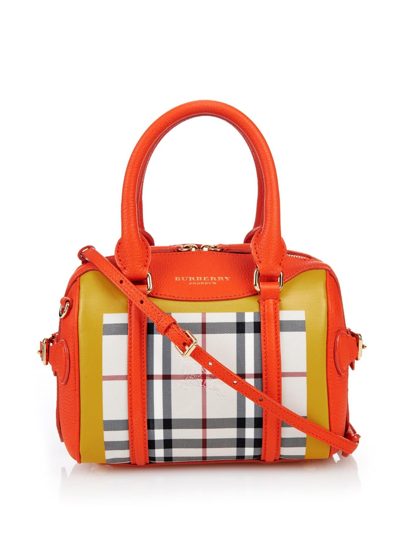 e7866dd30175 Lyst - Burberry Prorsum Mini Bee Colour-Block Leather Cross-Body Bag ...