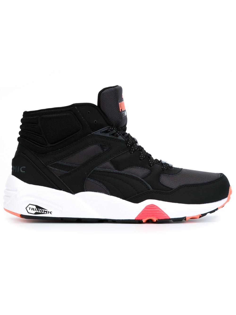 PUMA 'trinomic' Hi-top Sneakers in Black for Men - Lyst