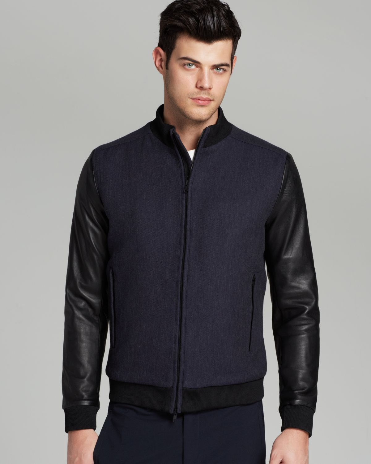 4ae97ce4e Theory Blue Bolmanne Bomber Jacket - Exclusive To Bloomingdale's for men