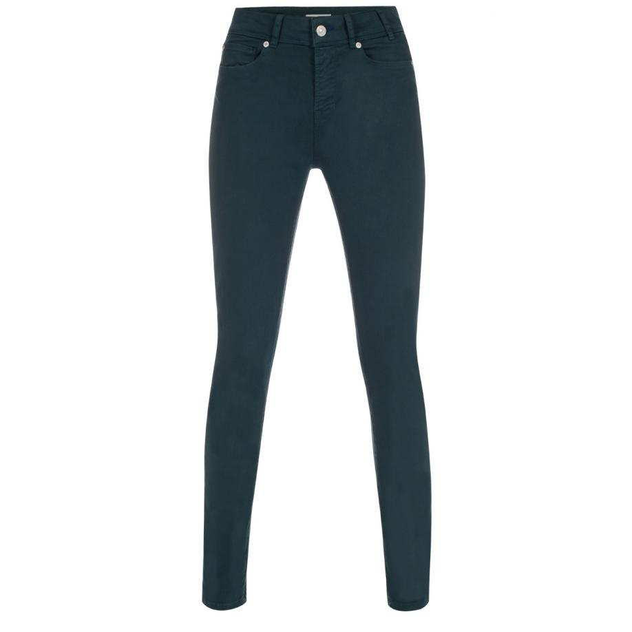 Paul smith Women's Dark Green Denim Skinny-fit Jeans in Green | Lyst