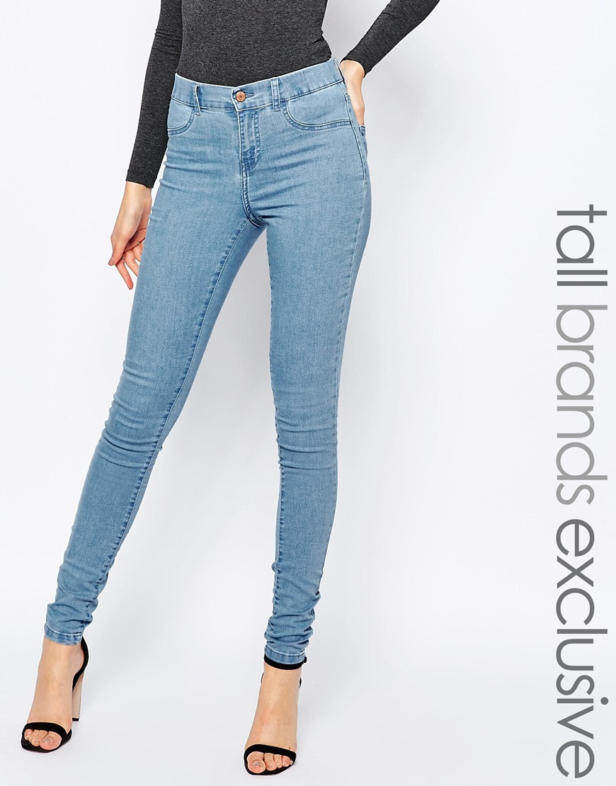 High Waisted Jegging - Blue Noisy May aaV6nq
