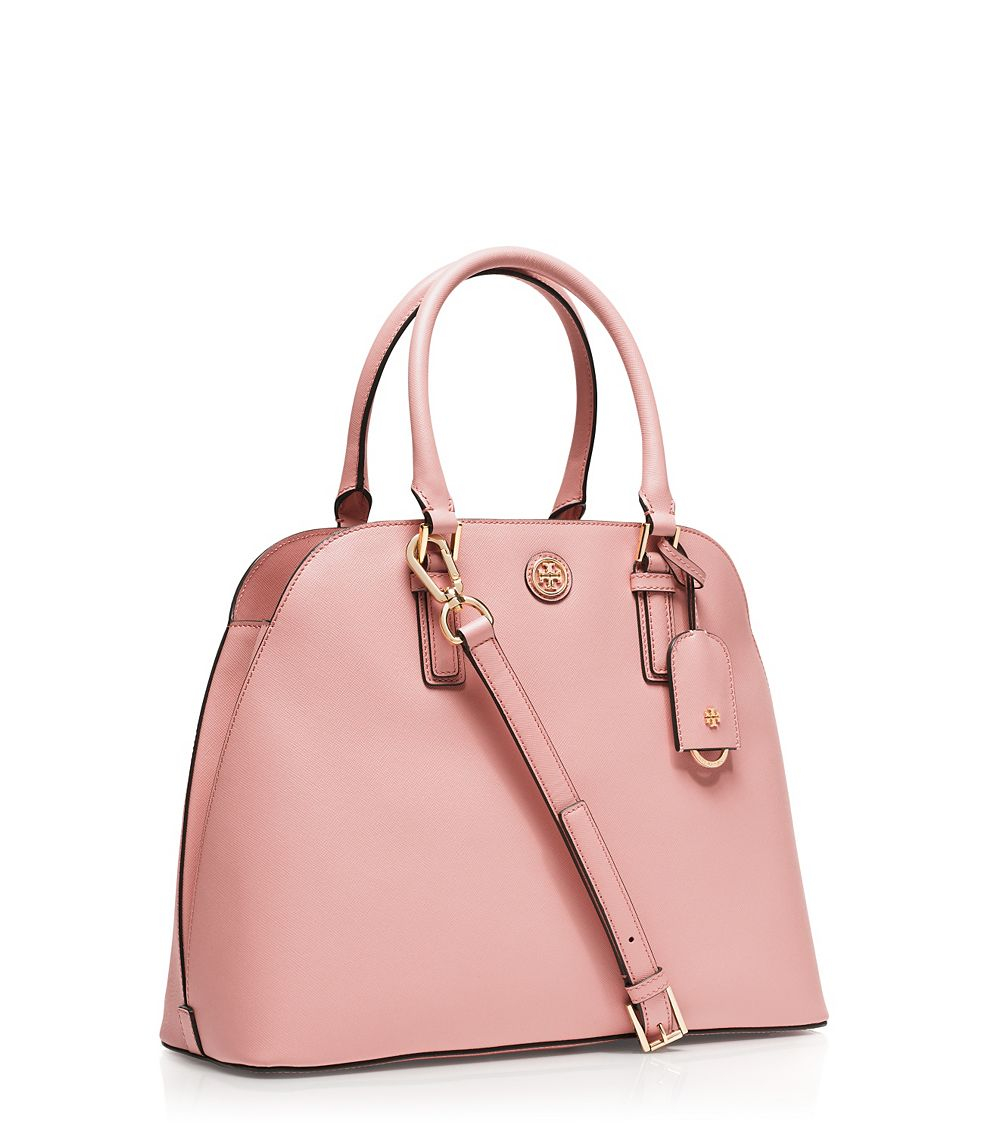 4817546a8cee Lyst - Tory Burch Robinson Open Dome Satchel in Pink
