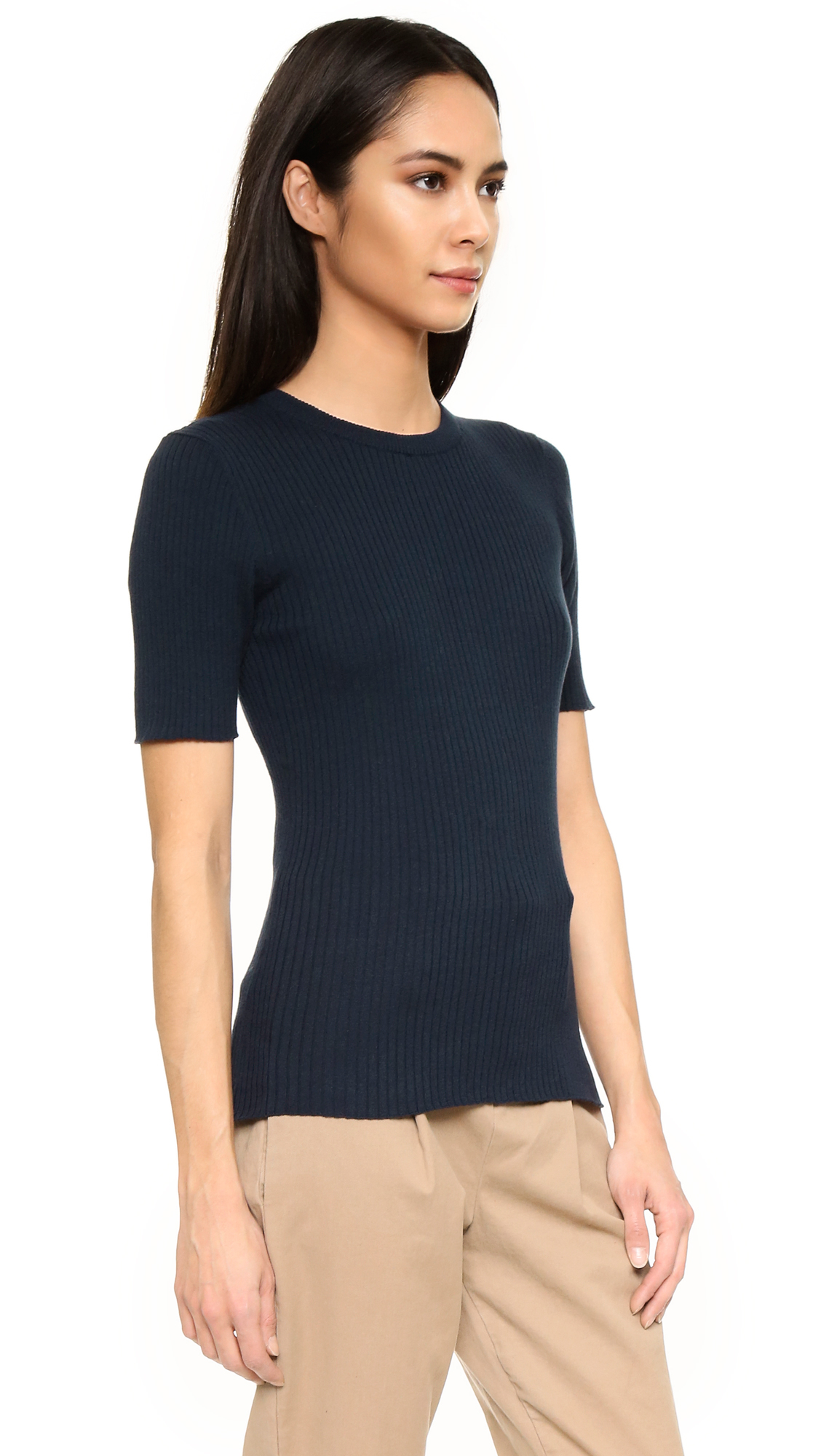 Frame Le Crew Sweater In Blue  Lyst-9030