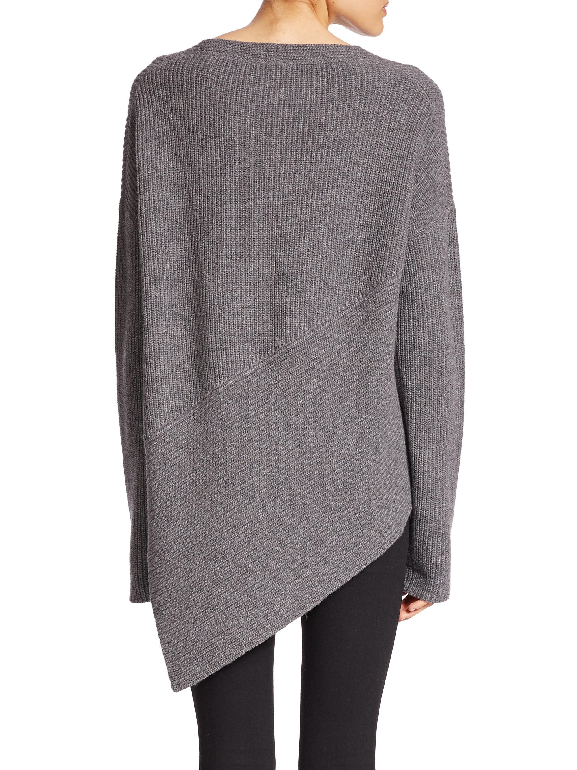 f6c6a4a651f Brochu Walker Thandee Ribbed Asymmetrical Sweater in Gray - Lyst