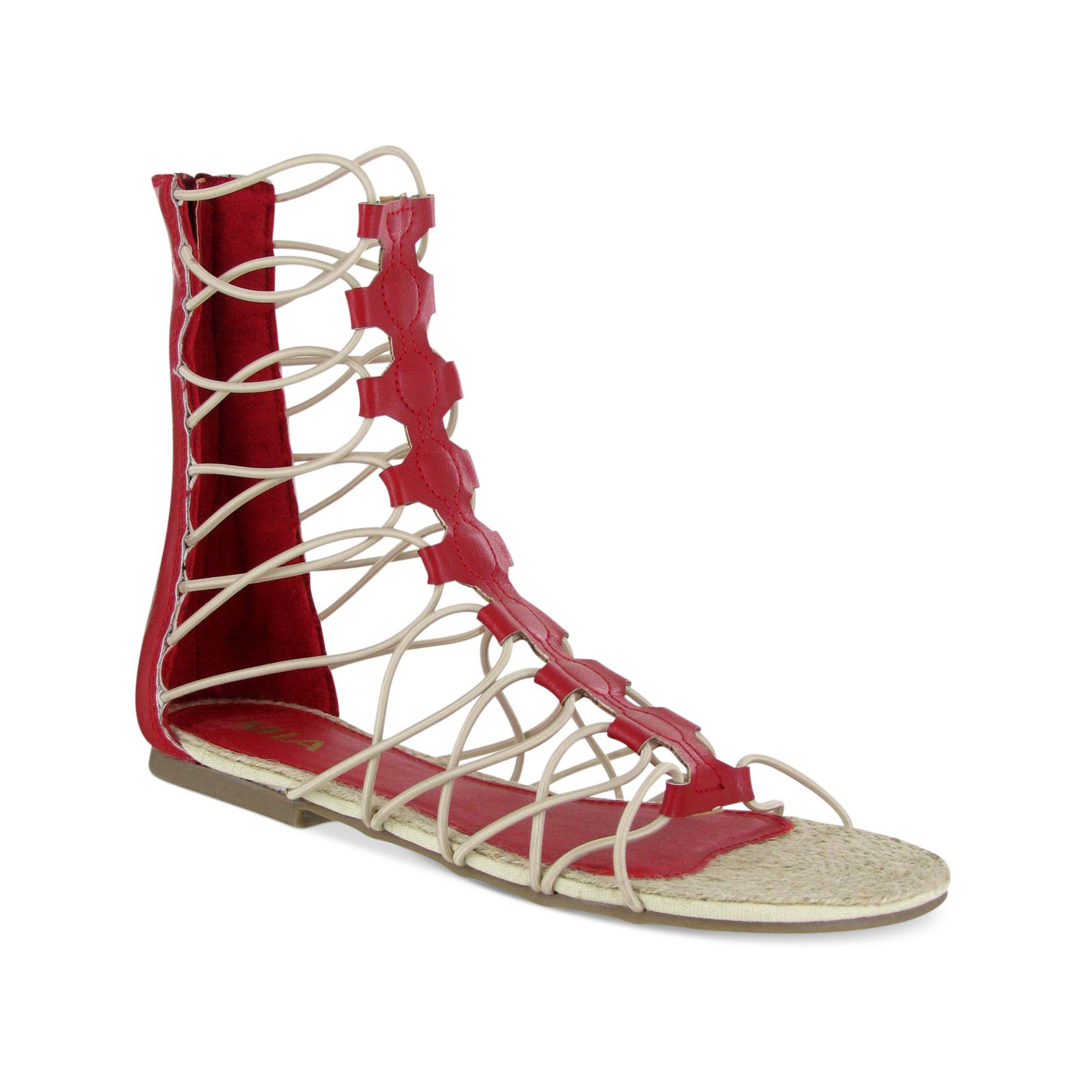 Mia Livi Gladiator Sandals In Red Lyst