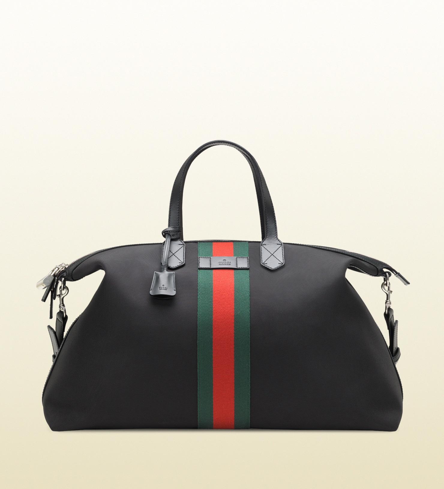 Gucci Techno Canvas Duffle Carry On Bag In Black For Men