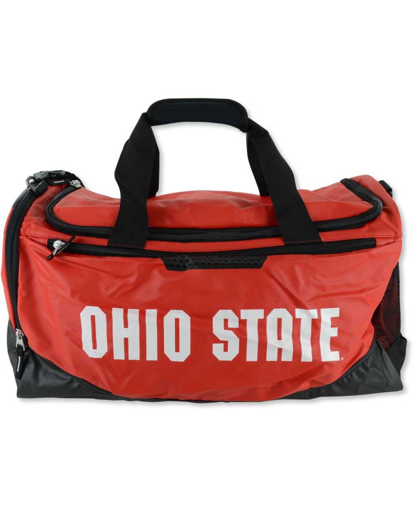 Lyst - Nike Ohio State Buckeyes Training Duffel Bag in Red for Men  Nike  Club Team Swoosh Duffel Bag - University ... f9fc63c750e87