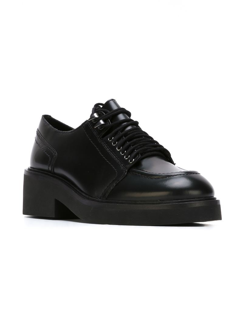 ash platform lace up leather shoes in black lyst