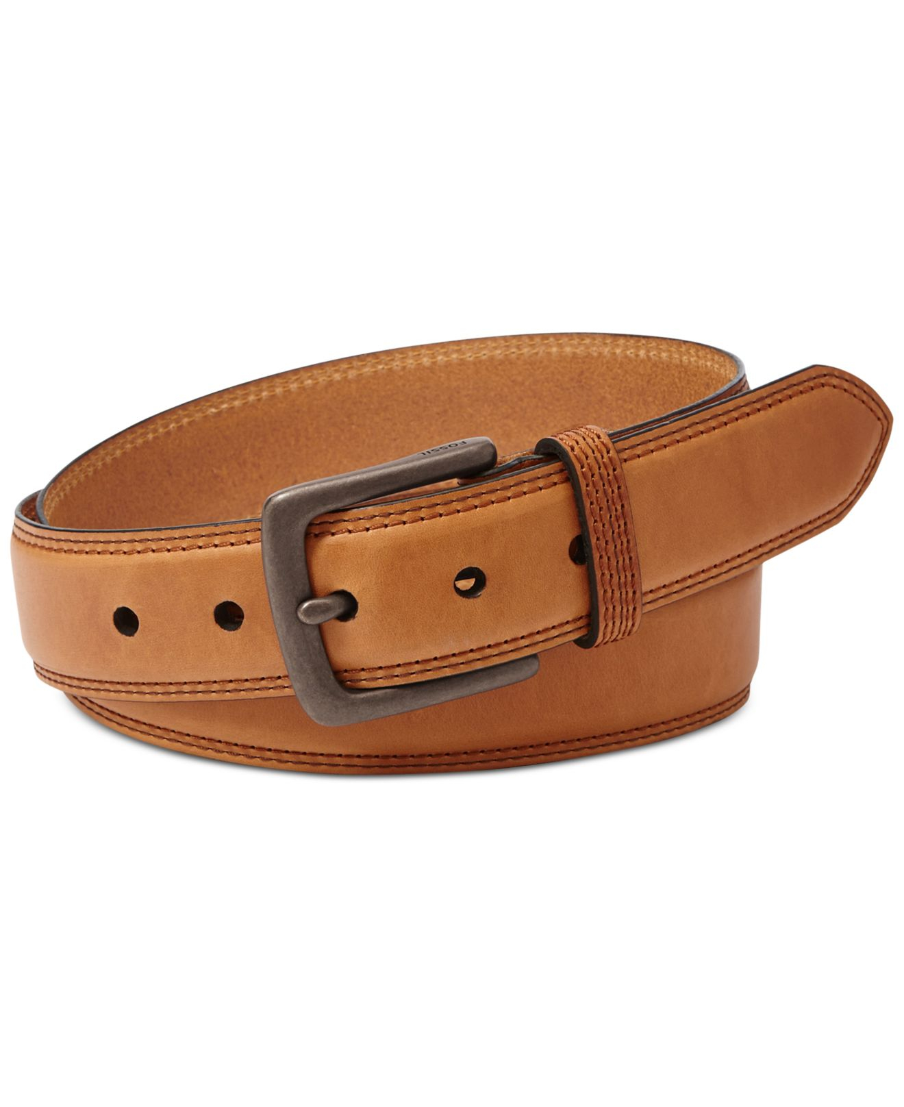 fossil mitch belt in brown for lyst