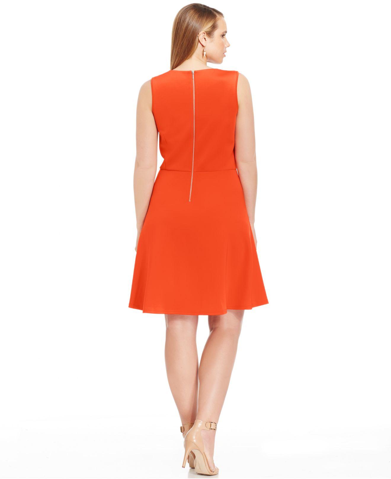 Lyst Spense Plus Size Embellished Scuba A Line Dress In