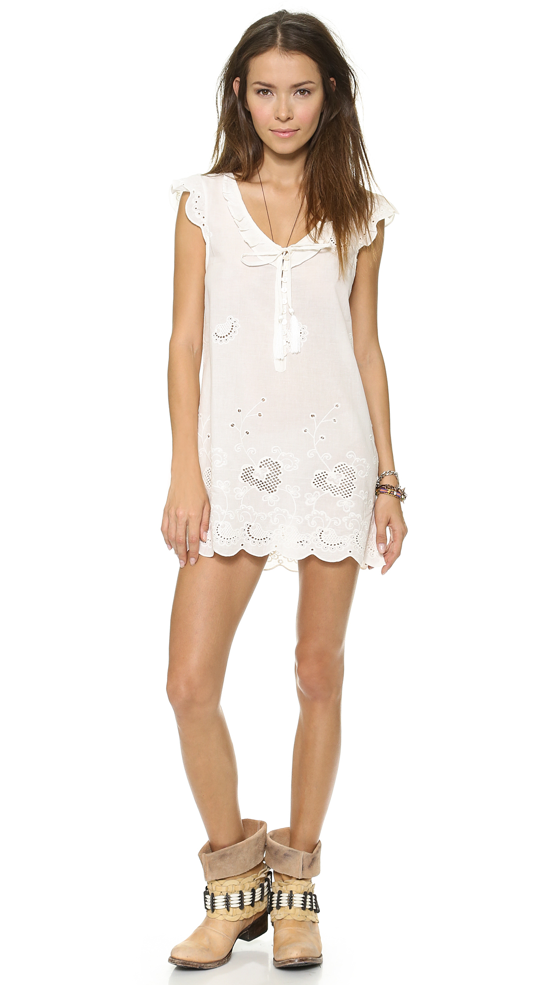 Lyst - Spell Indian Summer Shift Dress Off White in Natural
