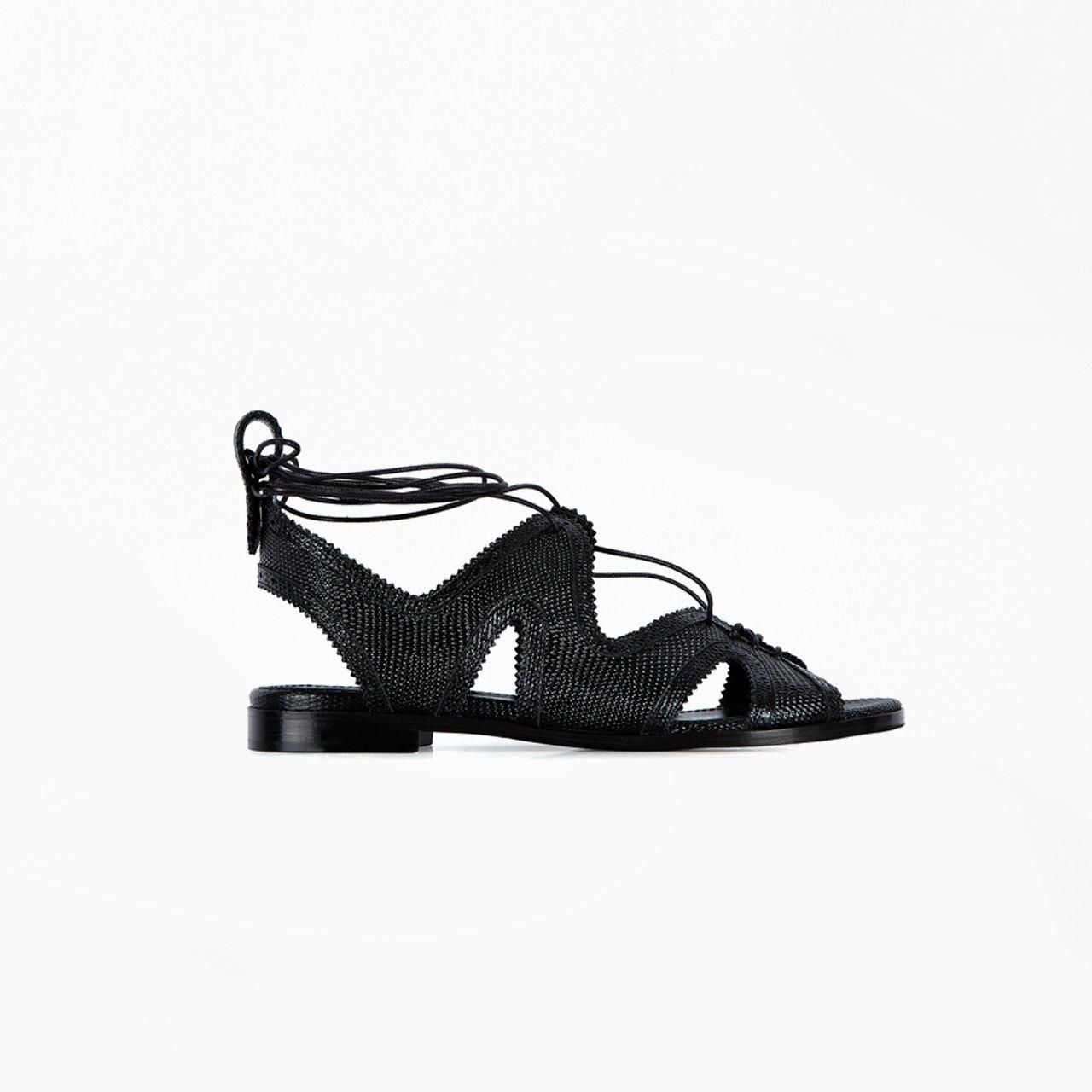 Black Sandals Black Ankle Strap Flat Sandals