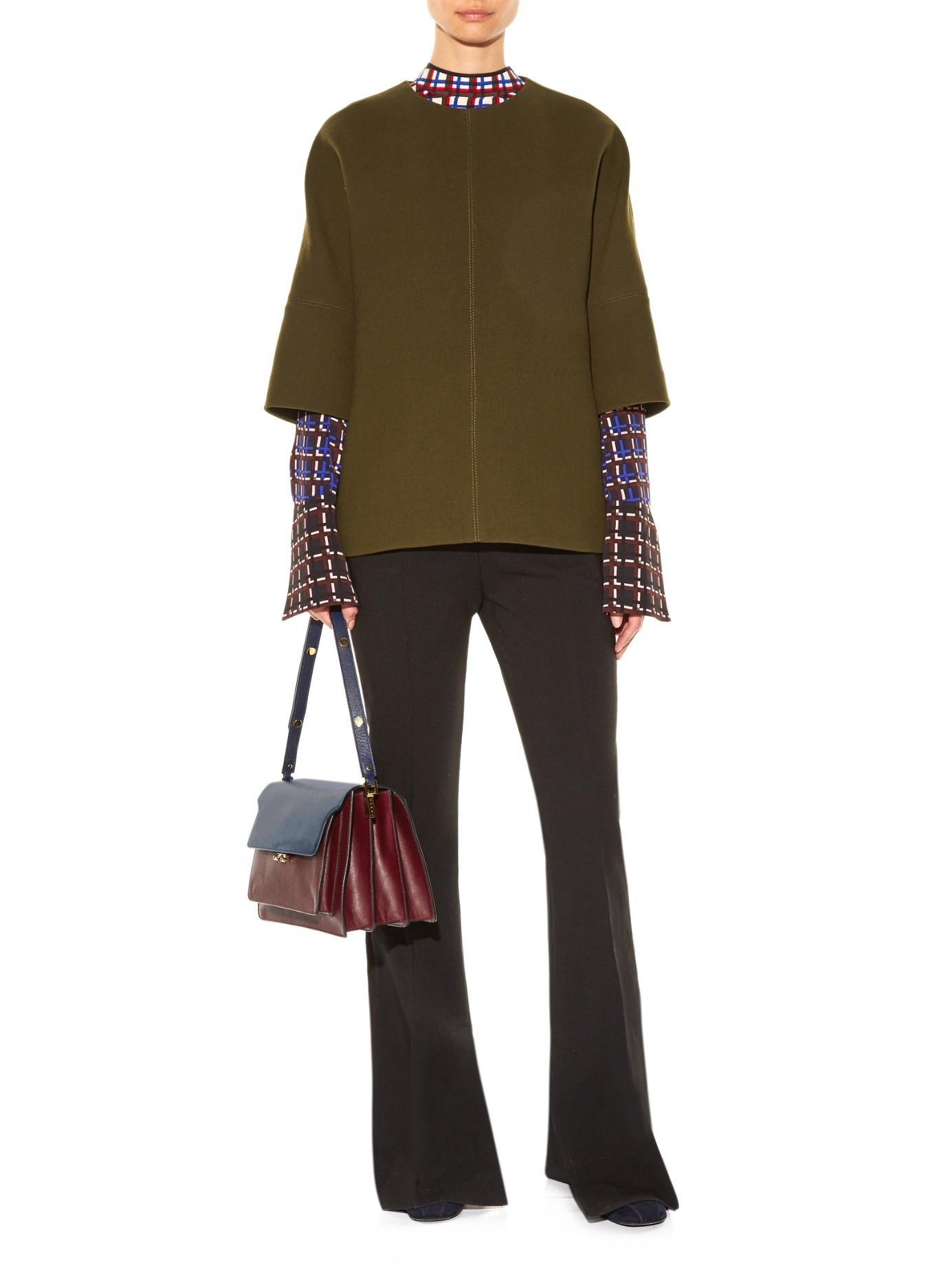 Trunk Bag Purple Medium In Marni Shoulder Leather Lyst 6q5wO