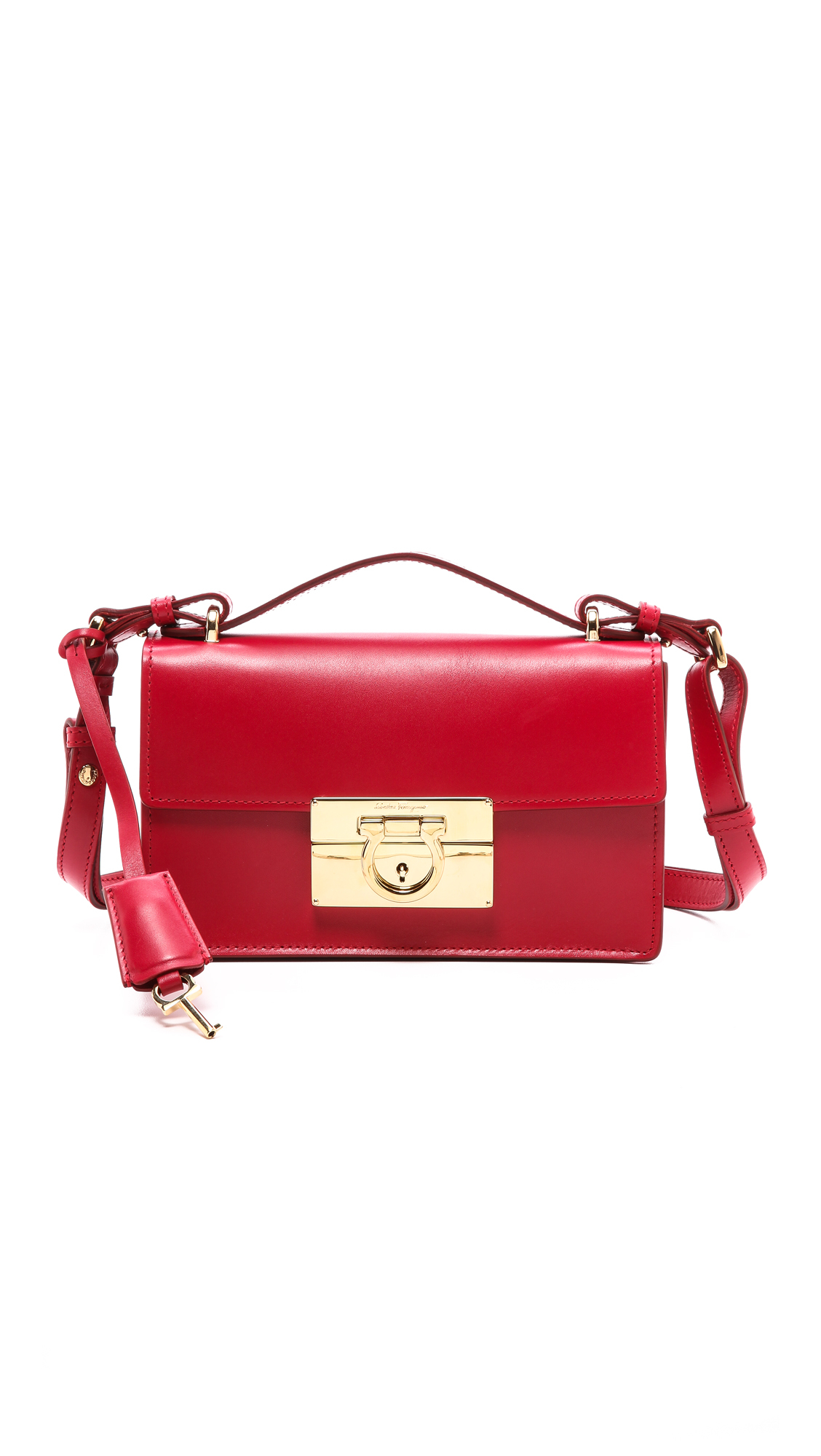 Ferragamo Aileen Shoulder Bag in Red - Lyst 3fad8179c207f