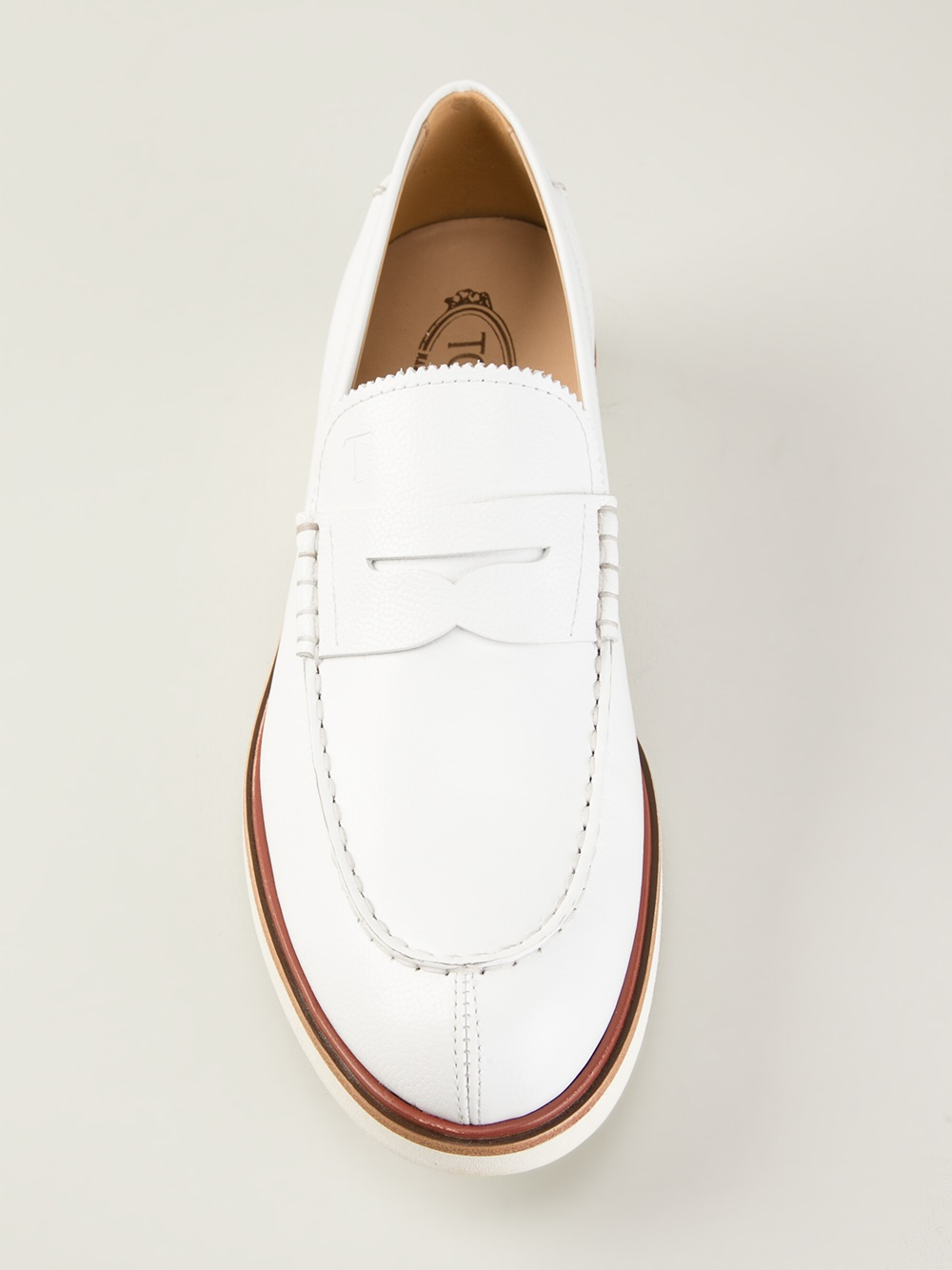 White Leather Driving Shoes