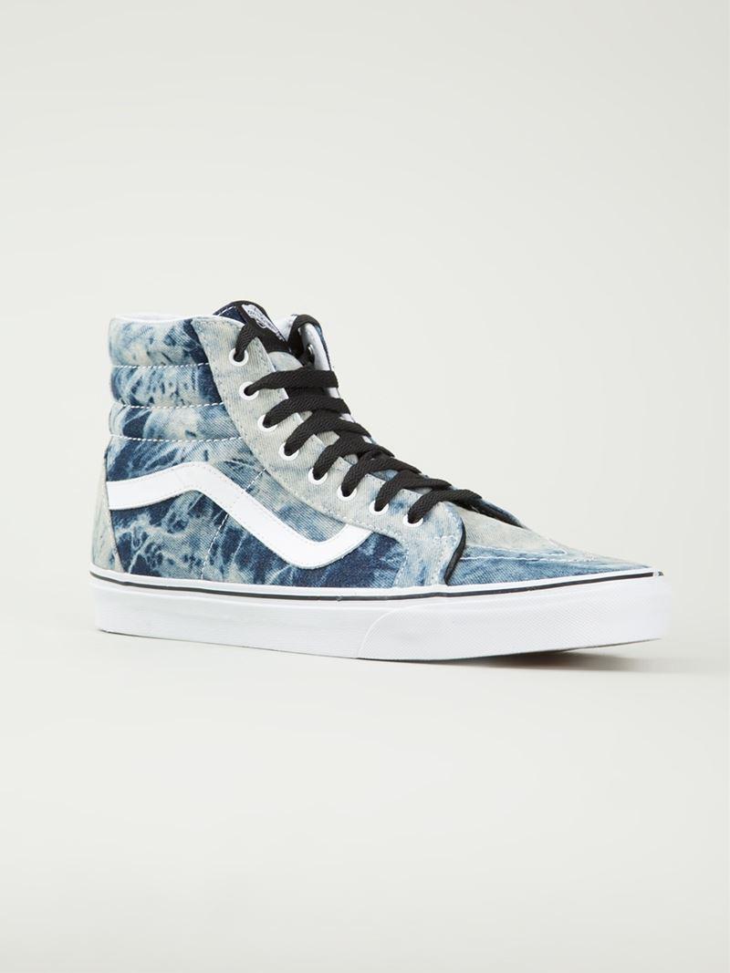 6a6cfad2186518 Lyst - Vans Tie Dye Print Lace Up Sneakers in Blue for Men