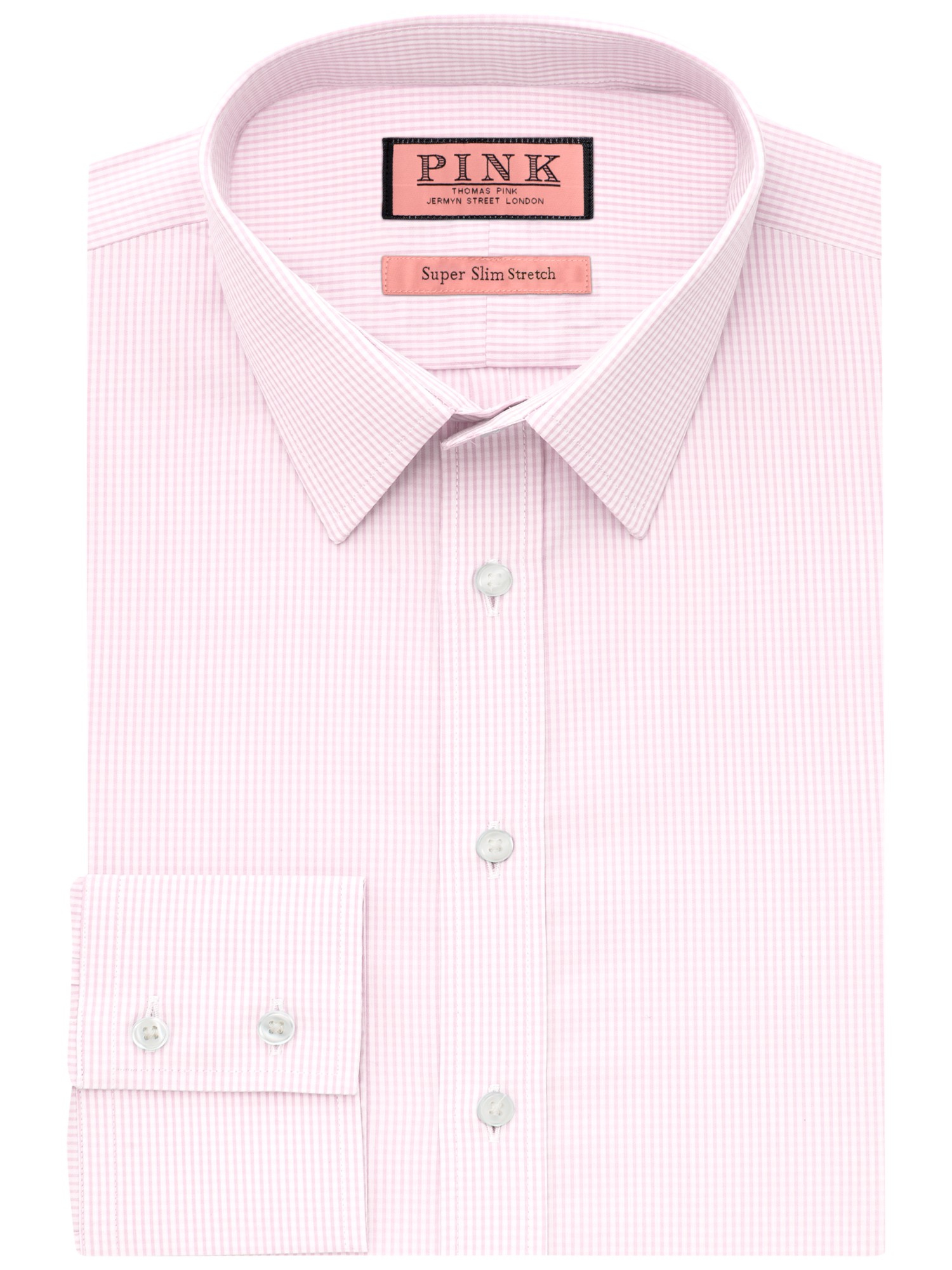 Thomas Pink Dyment Texture Super Slim Fit Shirt In Pink
