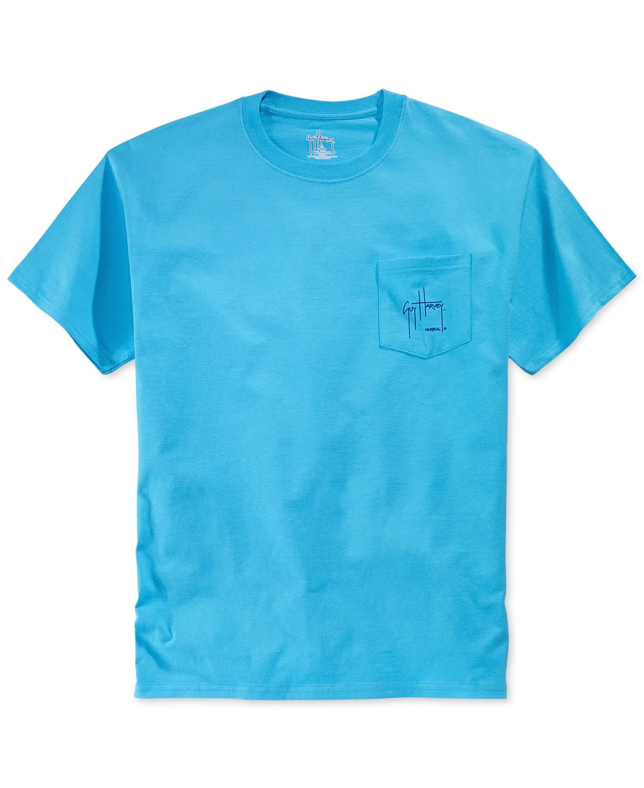 Lyst Guy Harvey Northeast Collage Pocket T Shirt In Blue