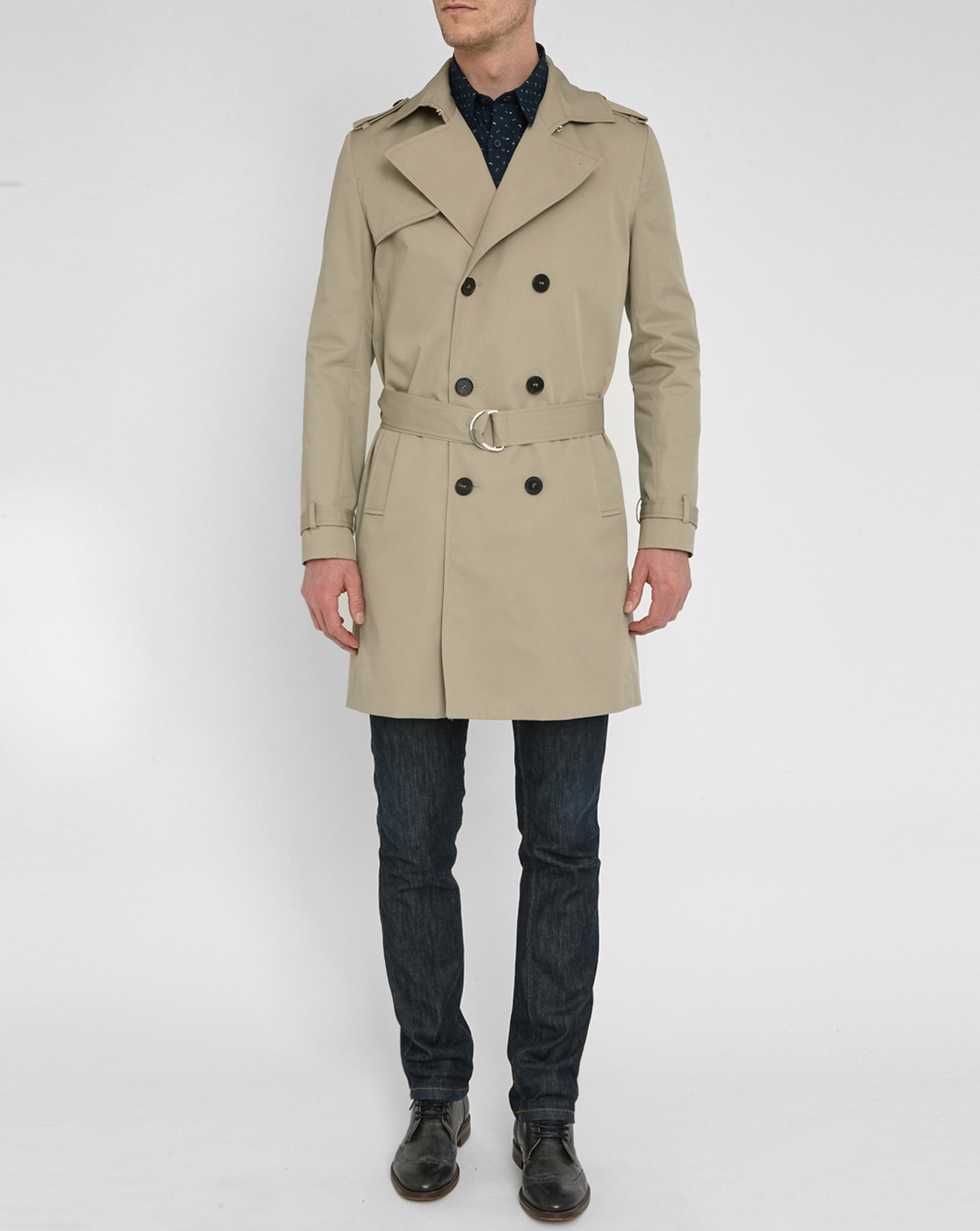 billtornade beige marco trench coat in natural for men lyst. Black Bedroom Furniture Sets. Home Design Ideas