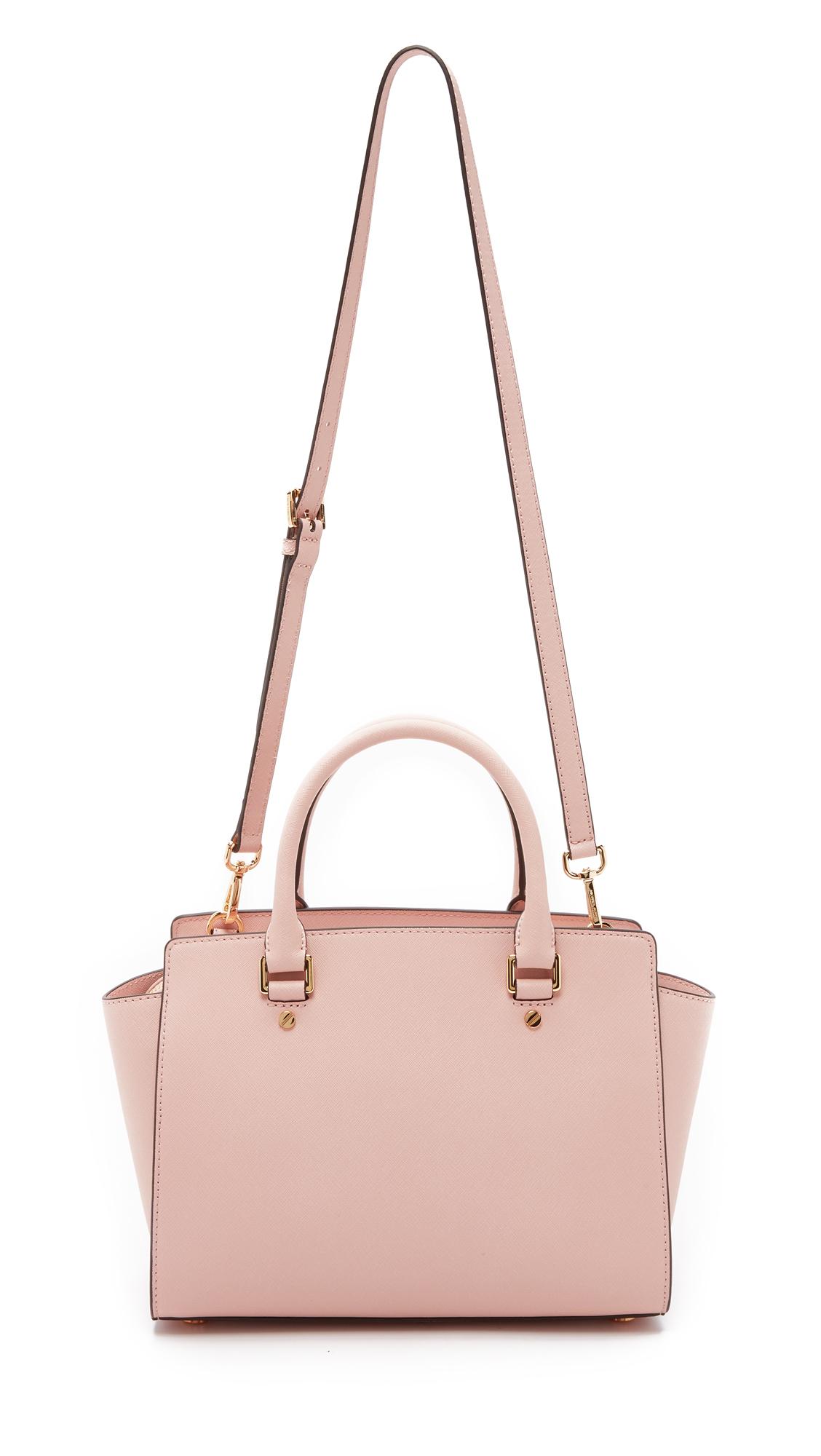 ... order michael michael kors selma medium satchel ballet in pink lyst  4e41f bffbf 0b61e033ad797