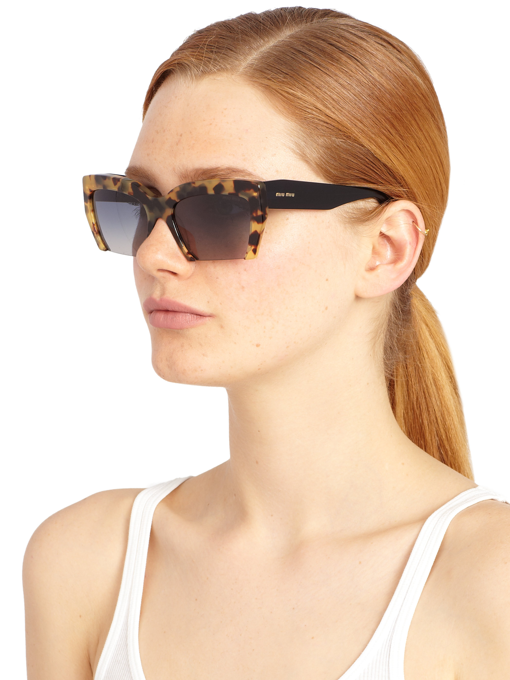 b787251570c Miu Miu Sunglasses Cat Eye