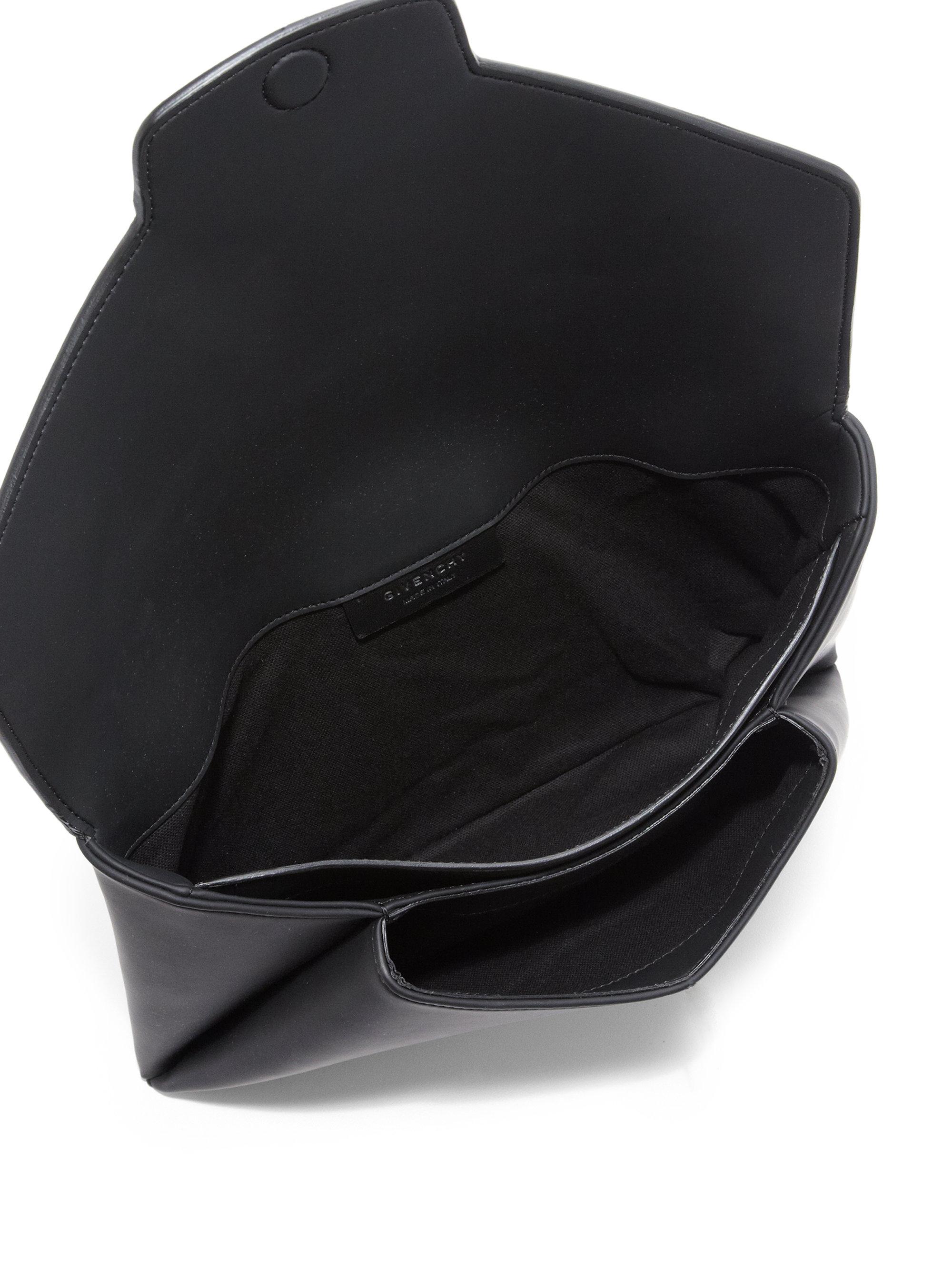 c9f17ae1c9 Lyst - Givenchy Antigona Medium Faux-leather Envelope Clutch in Black