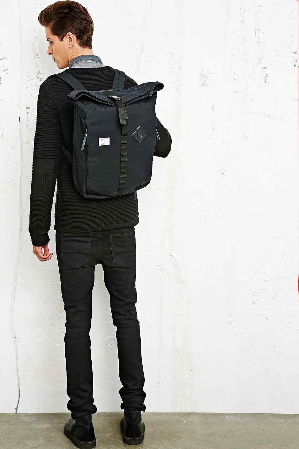 0376d117c0 Sandqvist Eddy Rolltop Backpack In Black in Black for Men - Lyst